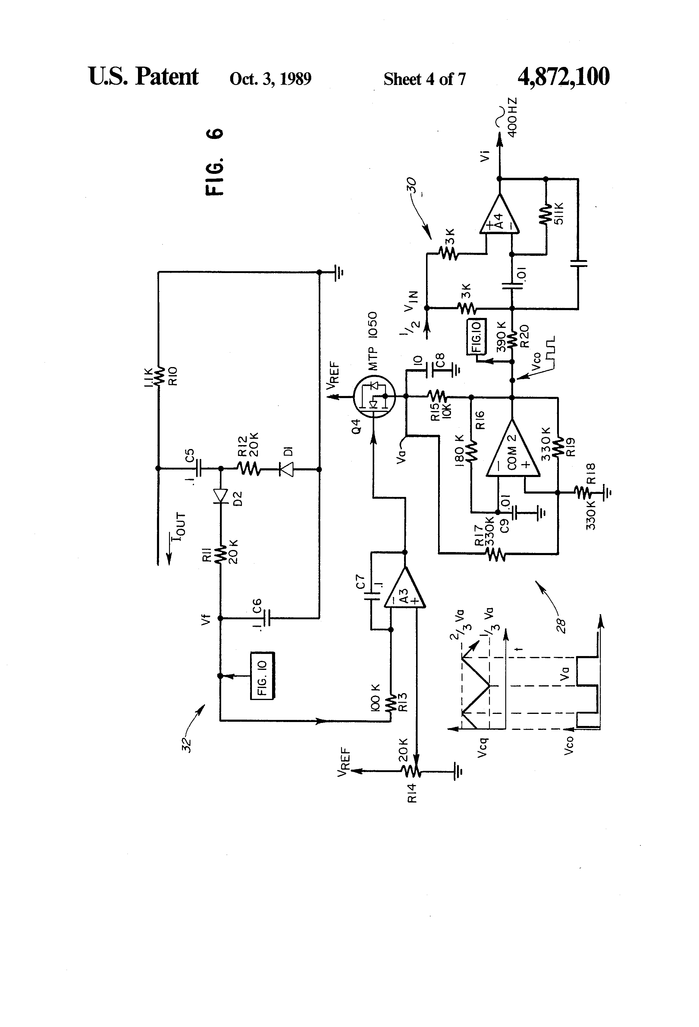Patent Us4872100 High Voltage Dc To Ac Converter Google Patents Circuit Diagram Drawing