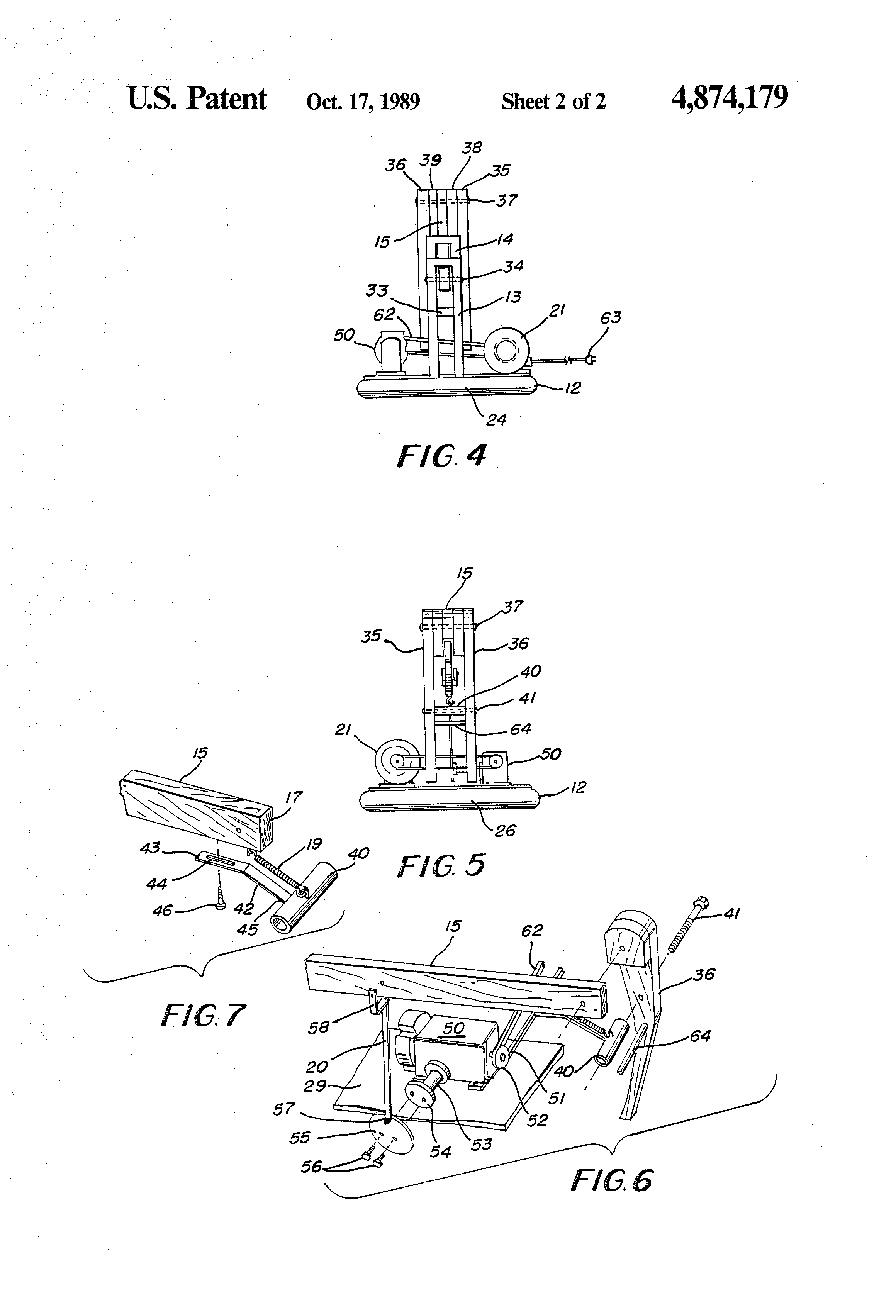patent us4874179 - mechanical roping dummy