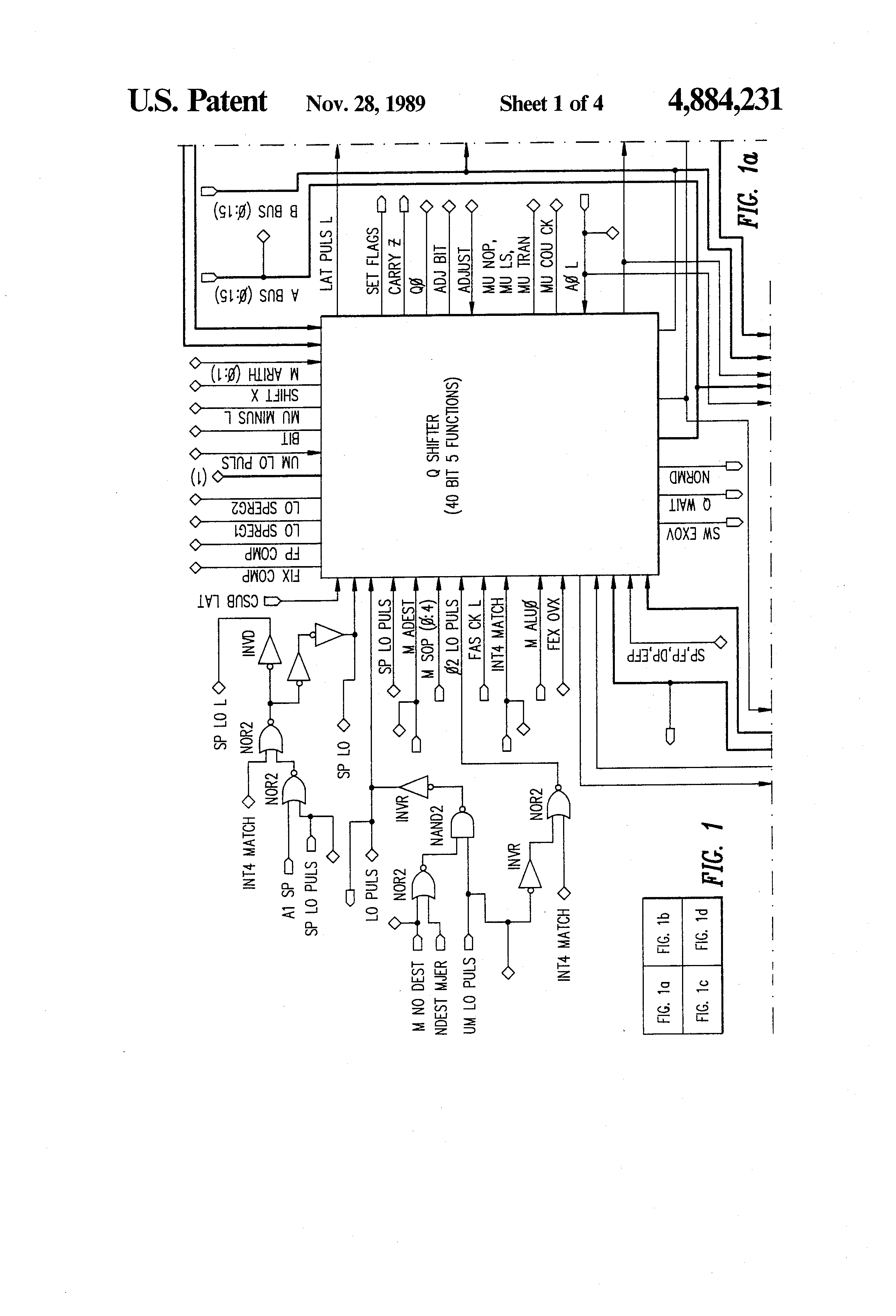patent us4884231 - microprocessor system with extended arithmetic logic unit