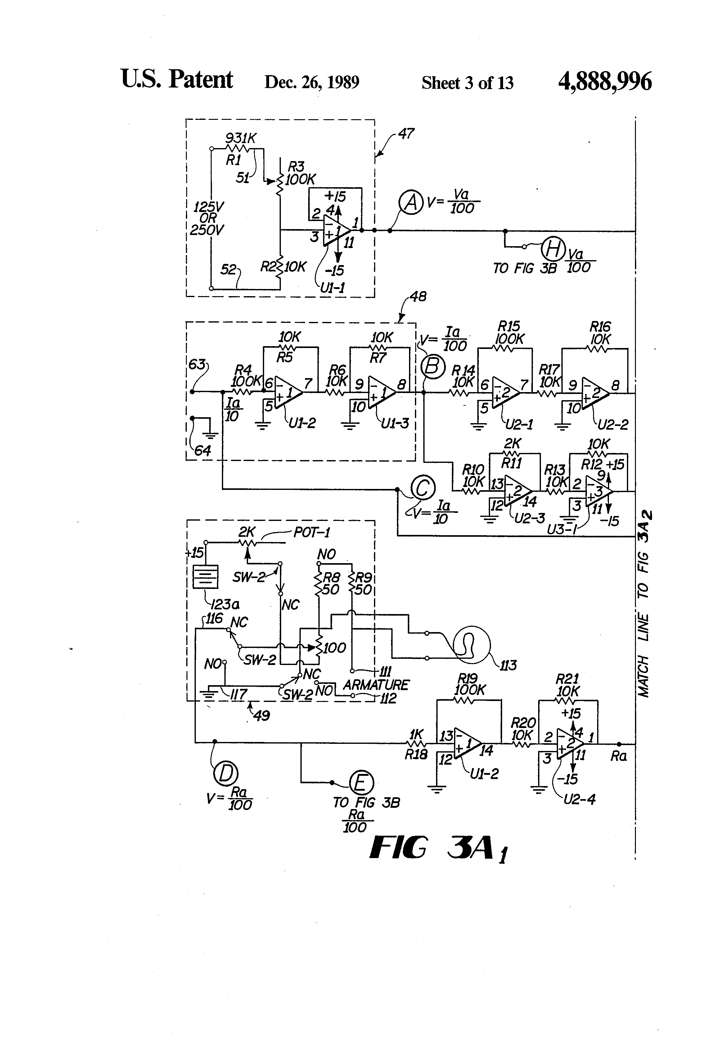 US4888996 3 patent us4888996 dc motor operated valve remote monitoring motor operated valve wiring diagram at gsmx.co
