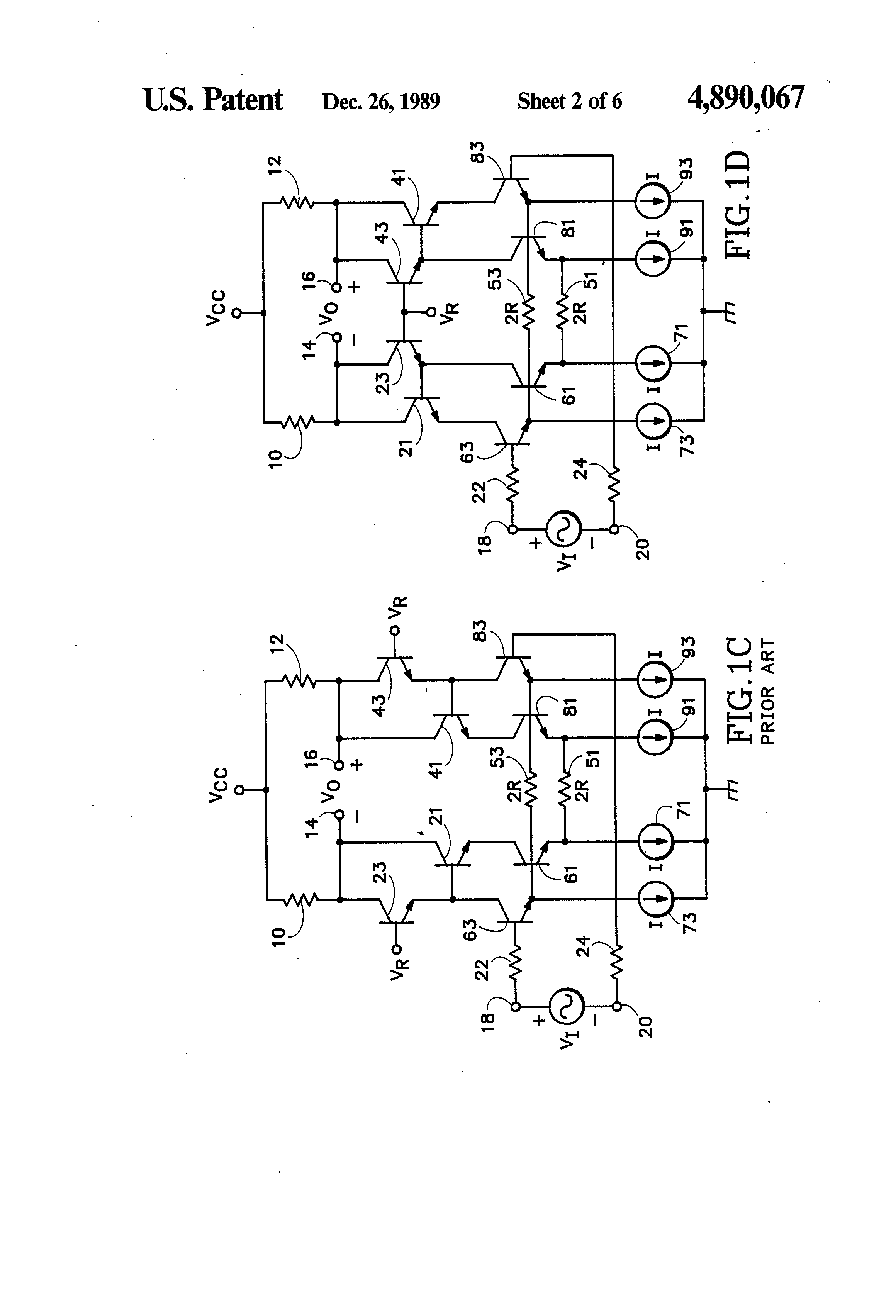 Patent Us4890067 Common Base Configuration For An Ft Doubler Squier Strat  Wiring Diagram 7 Sound Strat Wiring Diagram