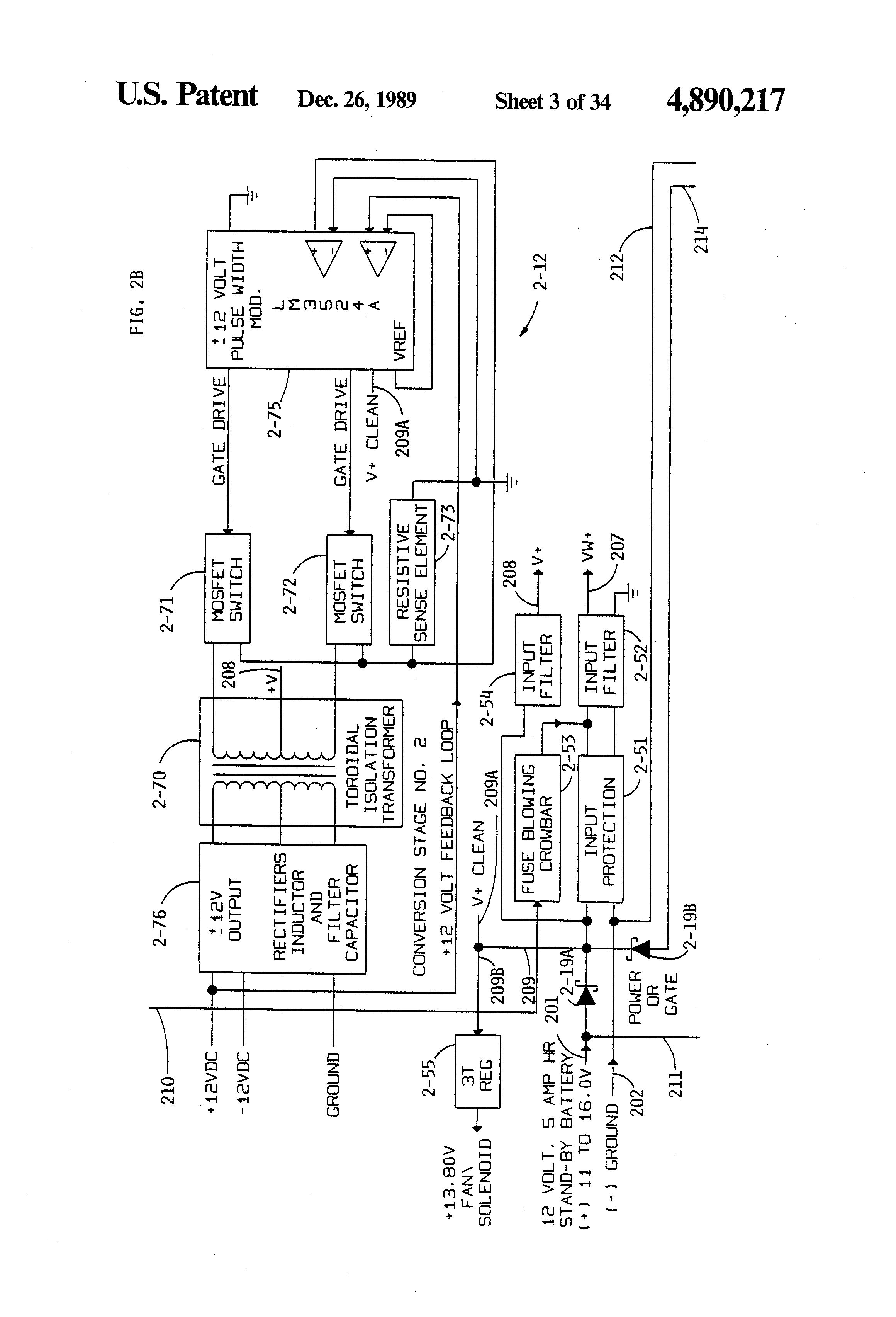 patent us4890217 universal power supply, independent converter  Crt Tv Moduleted Universal Power Supply Circuit Diagram Crt Tv Moduleted Universal Power Supply Circuit Diagram #8