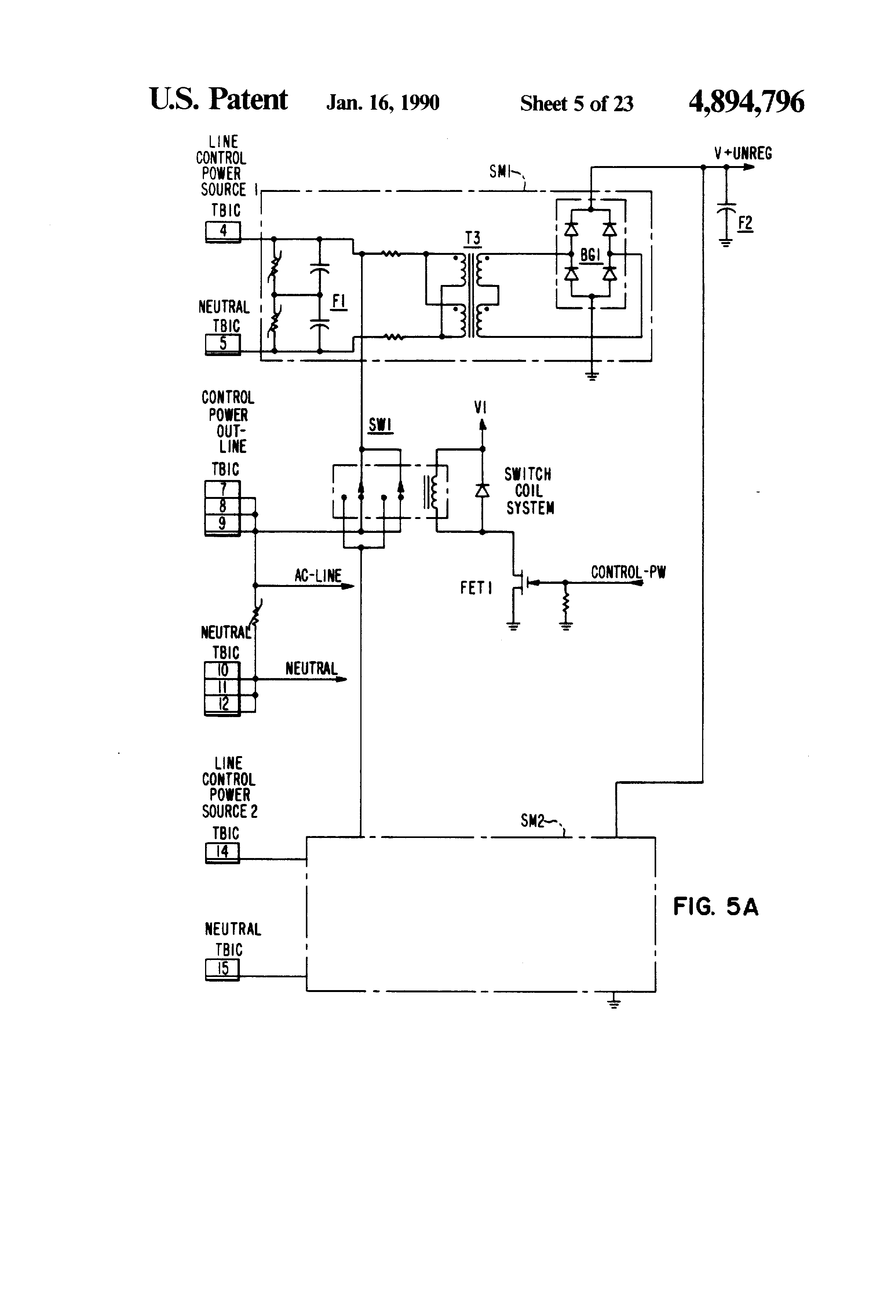 patent us4894796 automatic transfer switch programmable patent drawing