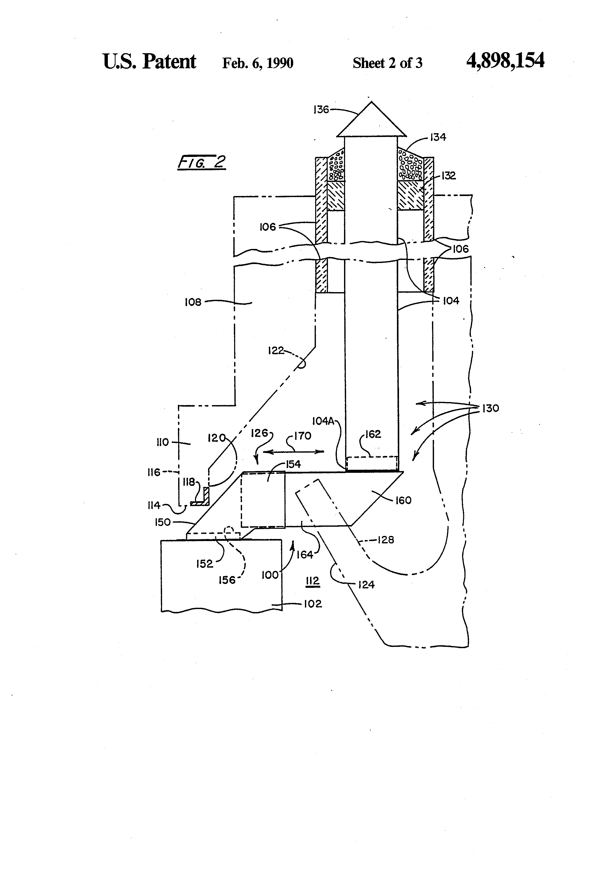 patent us4898154 adjustable fitting for fireplace insert flue