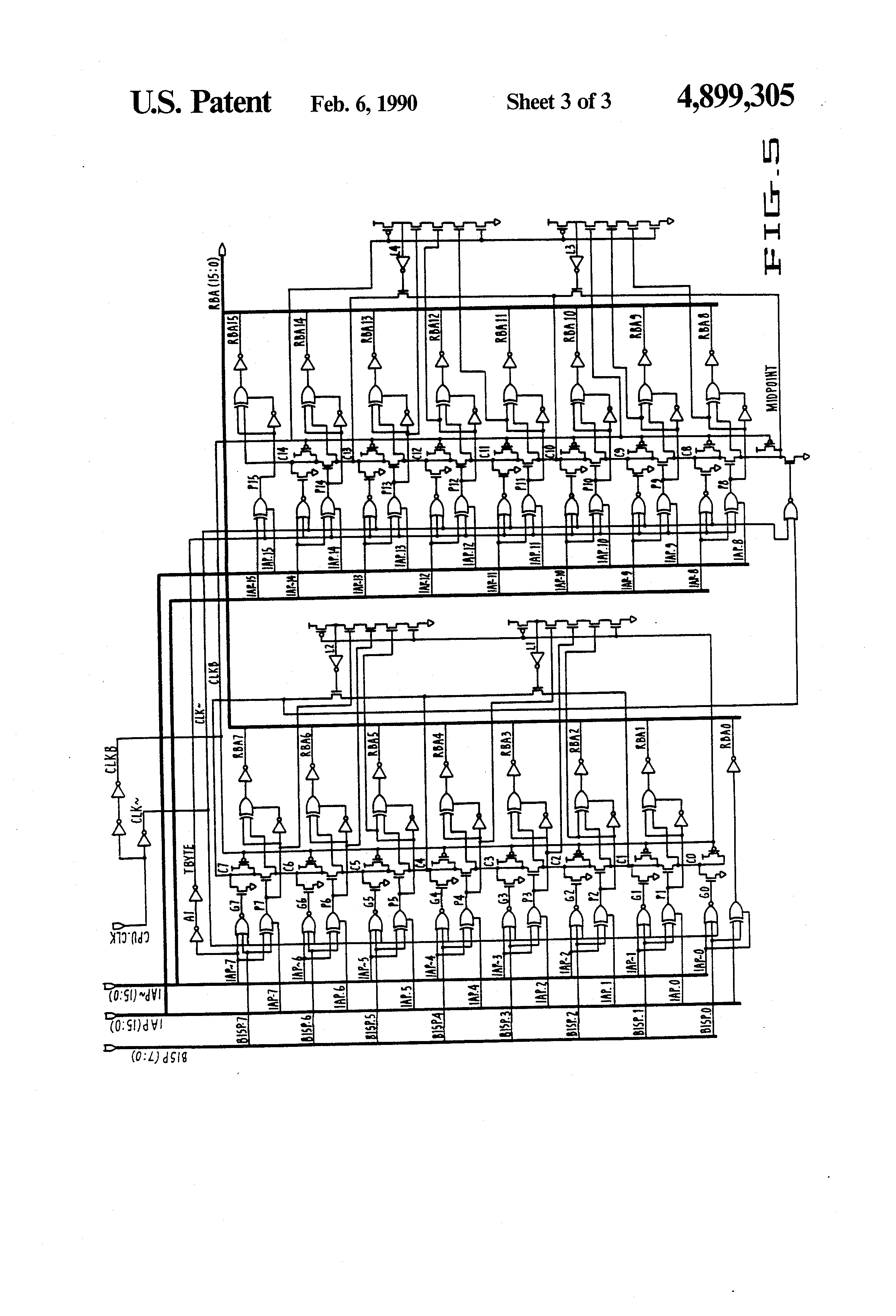 patent us4899305 - manchester carry adder circuit