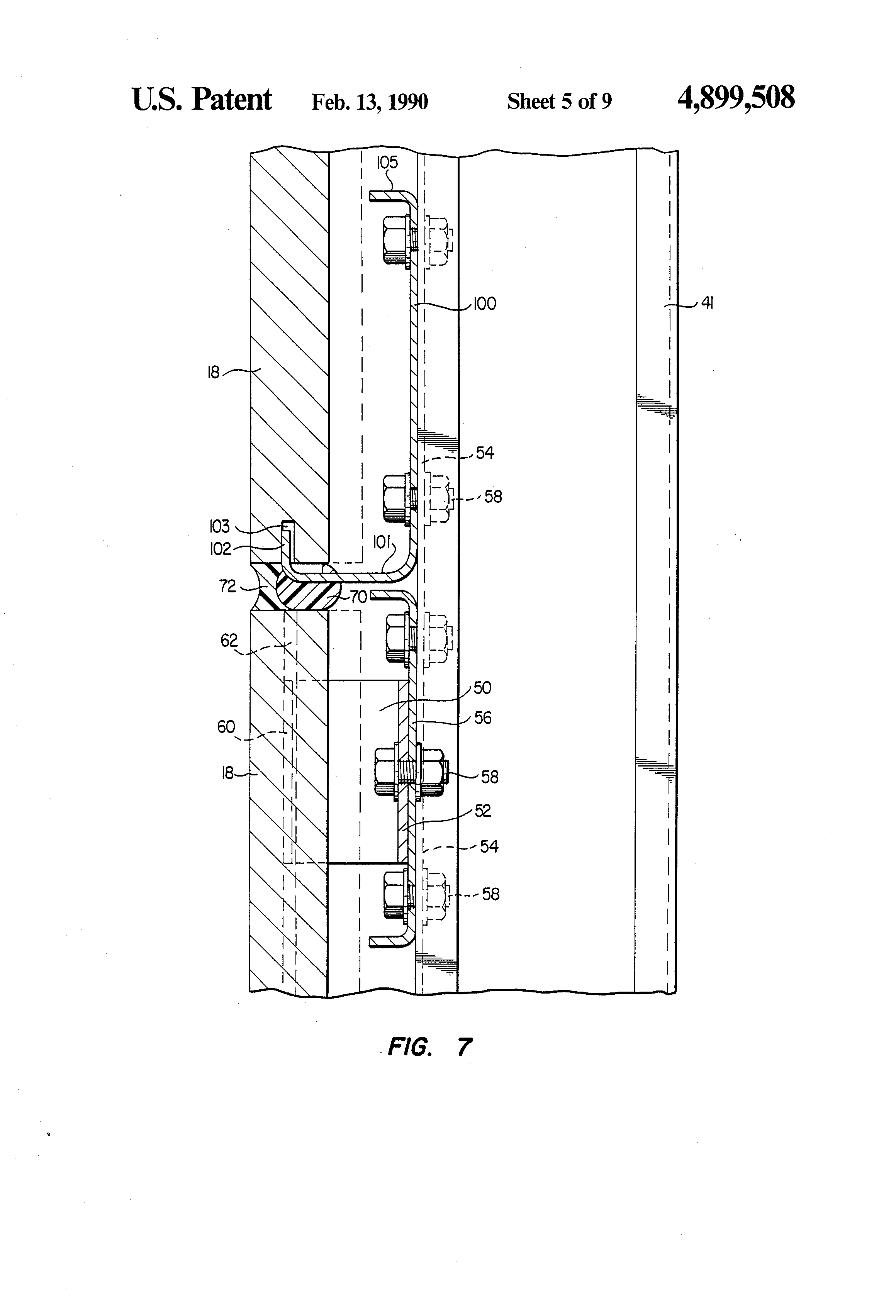 Patent Us4899508 Panel And Glass Curtain Wall System