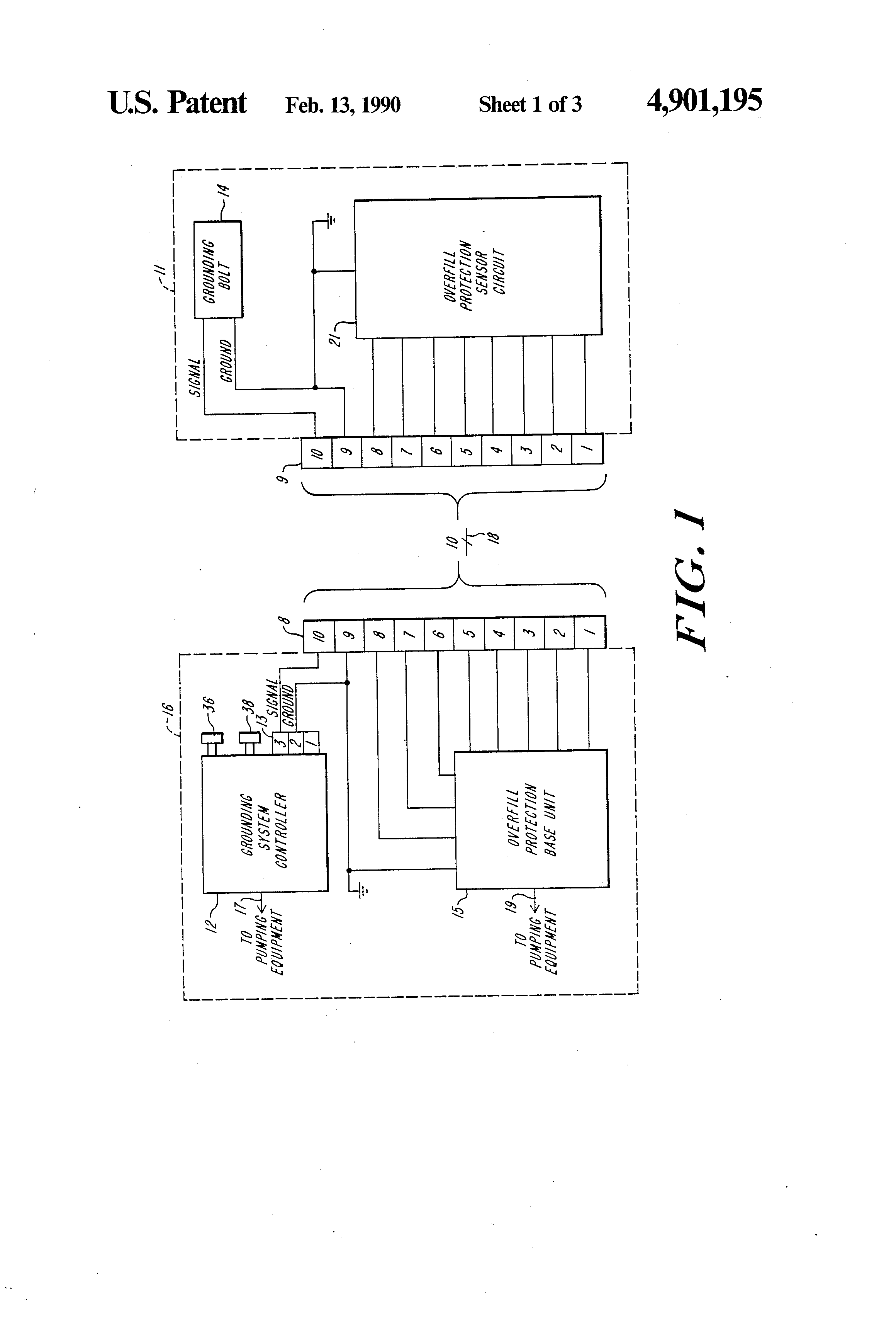 patent us4901195 self proving vehicle grounding system patents