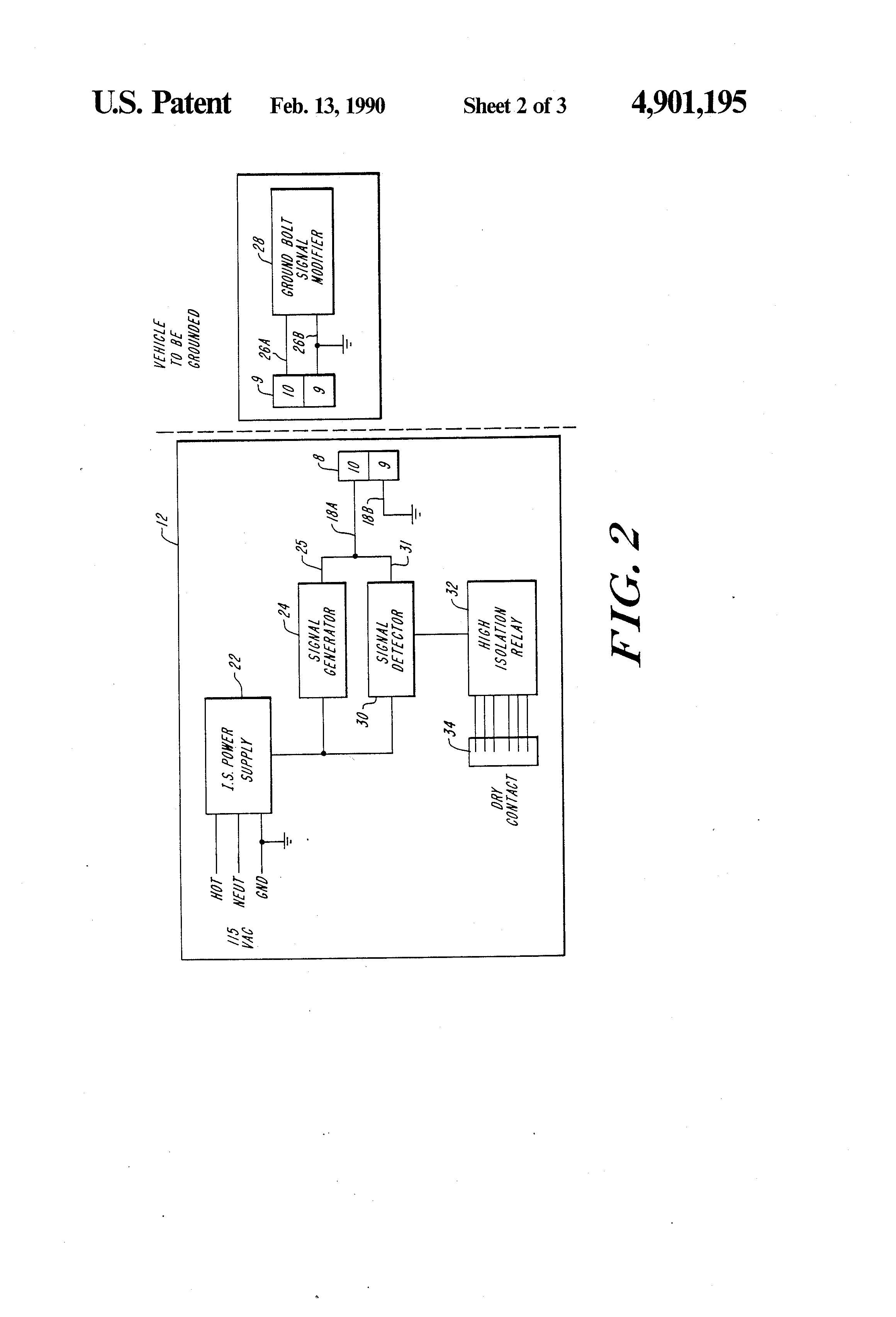 US4901195 2 patent us4901195 self proving vehicle grounding system google scully system wire diagram at bayanpartner.co