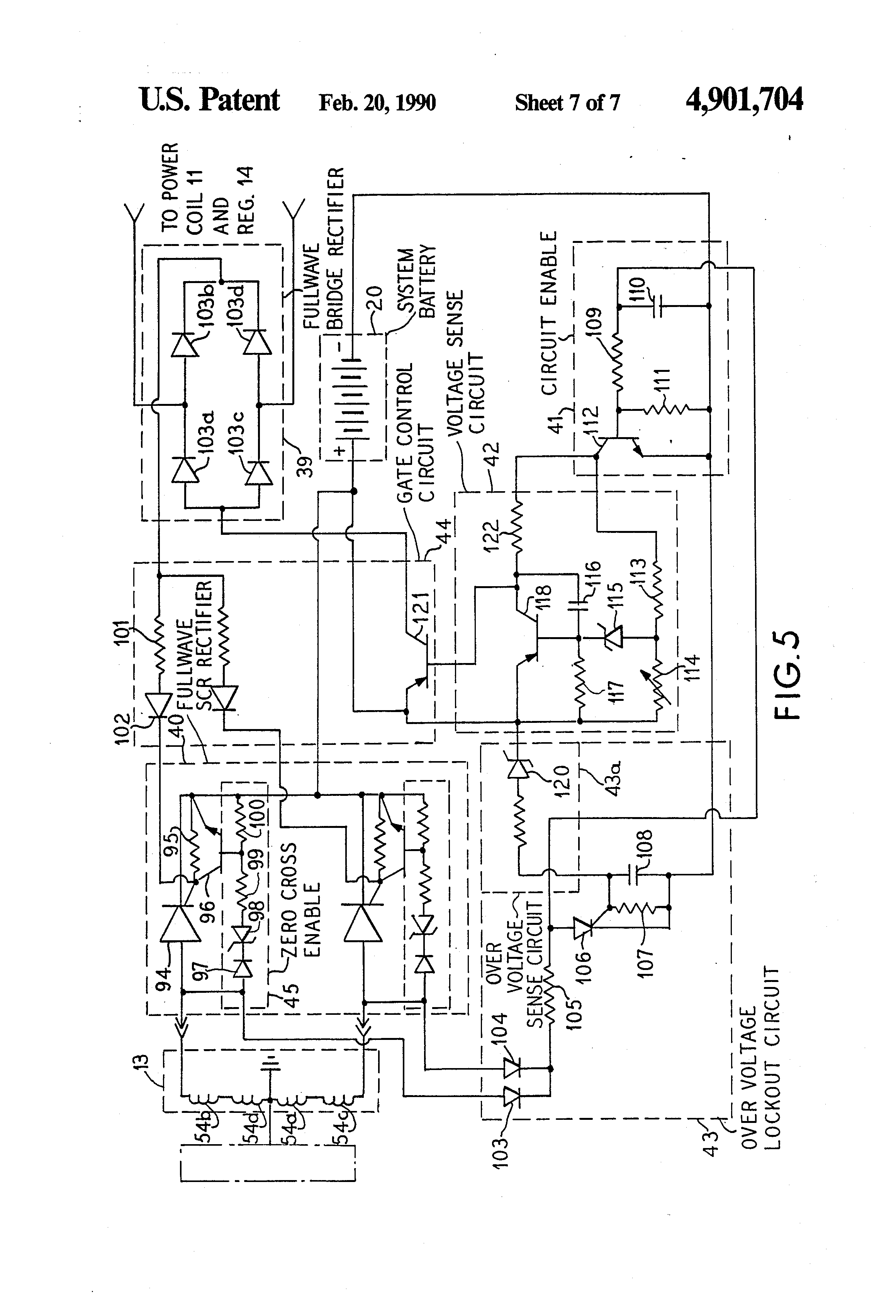 US4901704 7 patent us4901704 hall effect device ignition and charging system kokusan denki cdi wiring diagram at aneh.co