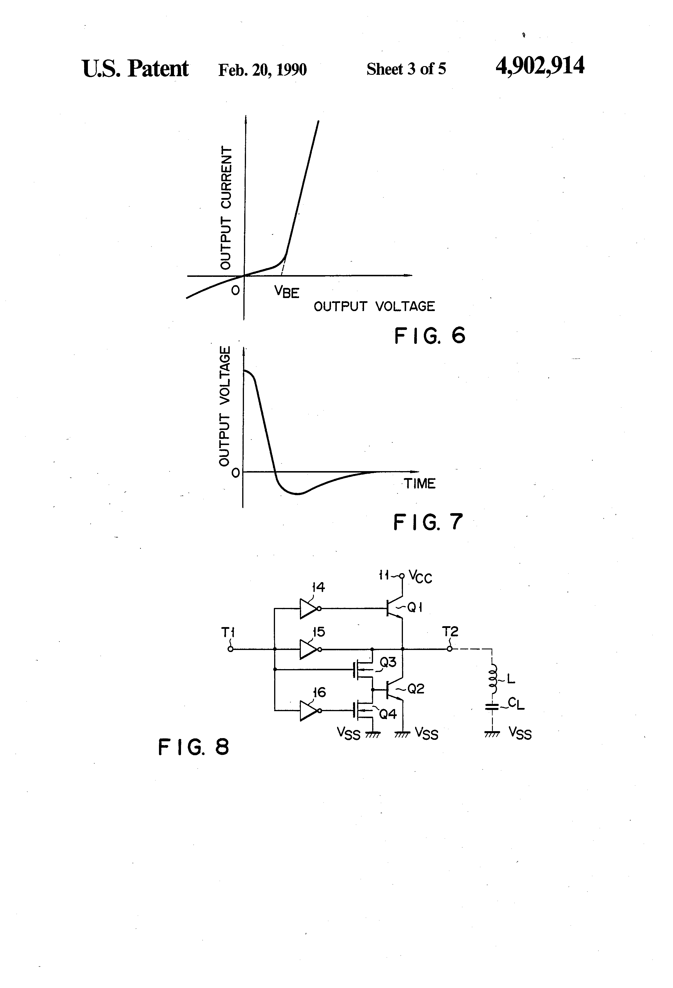 Patent Us4902914 Logic Circuit Used In Standard Ic Or Cmos Of A Series Resonant Oscillator Using Ttl Nand Gates Drawing