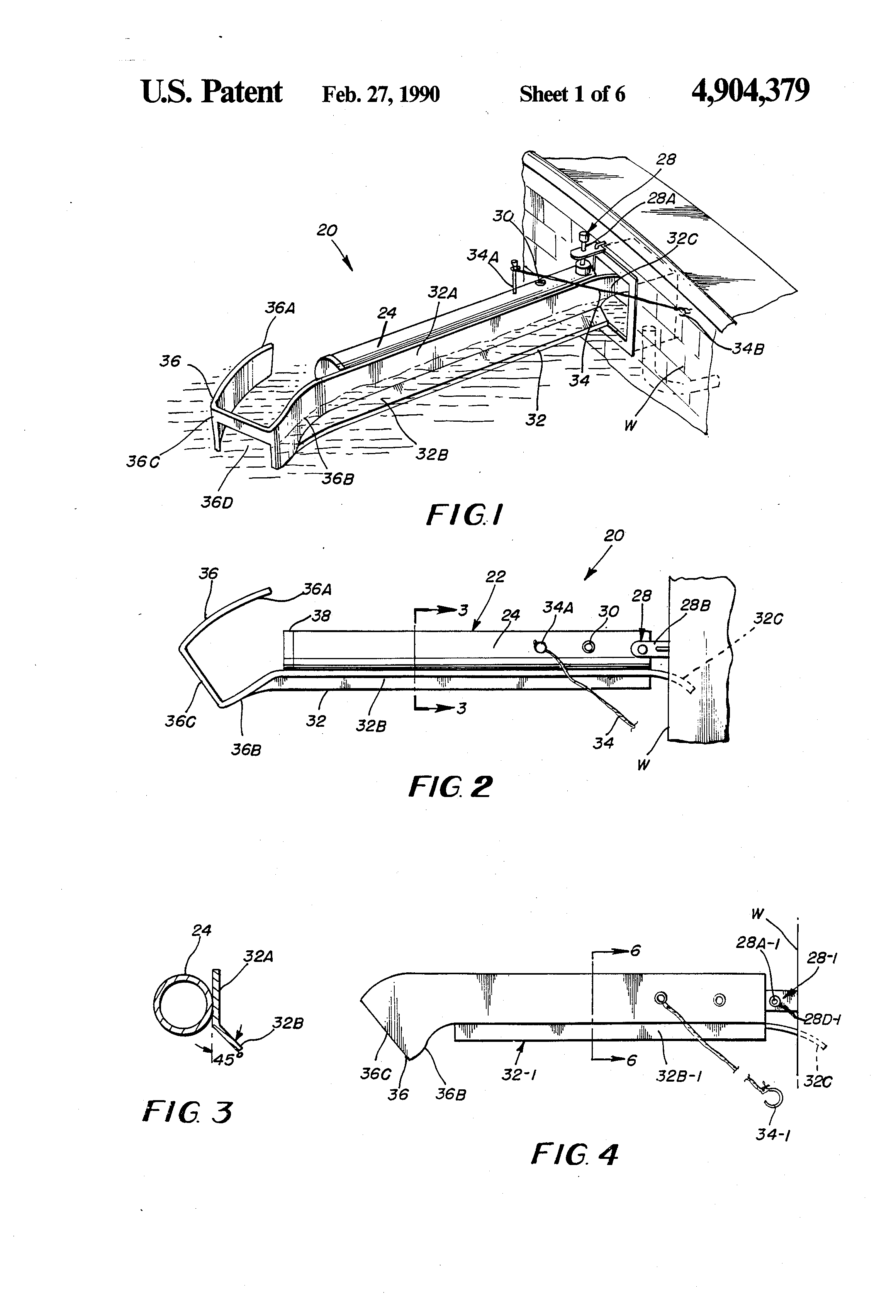 Patent Us4904379 Skimmer Diverter Assembly For Removing Debris Schematic Drawing