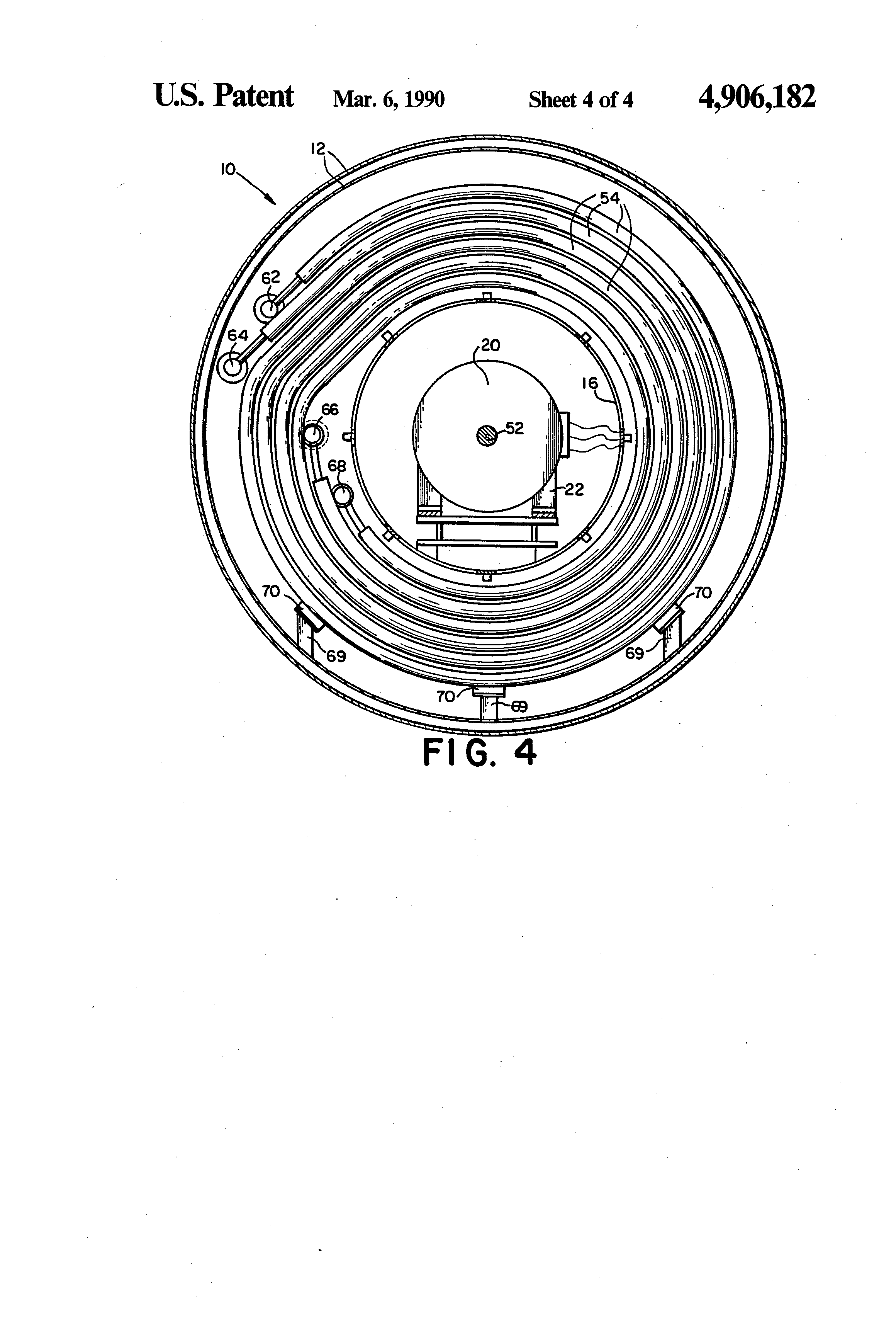 Patent US Gas cooling system for processing furnace