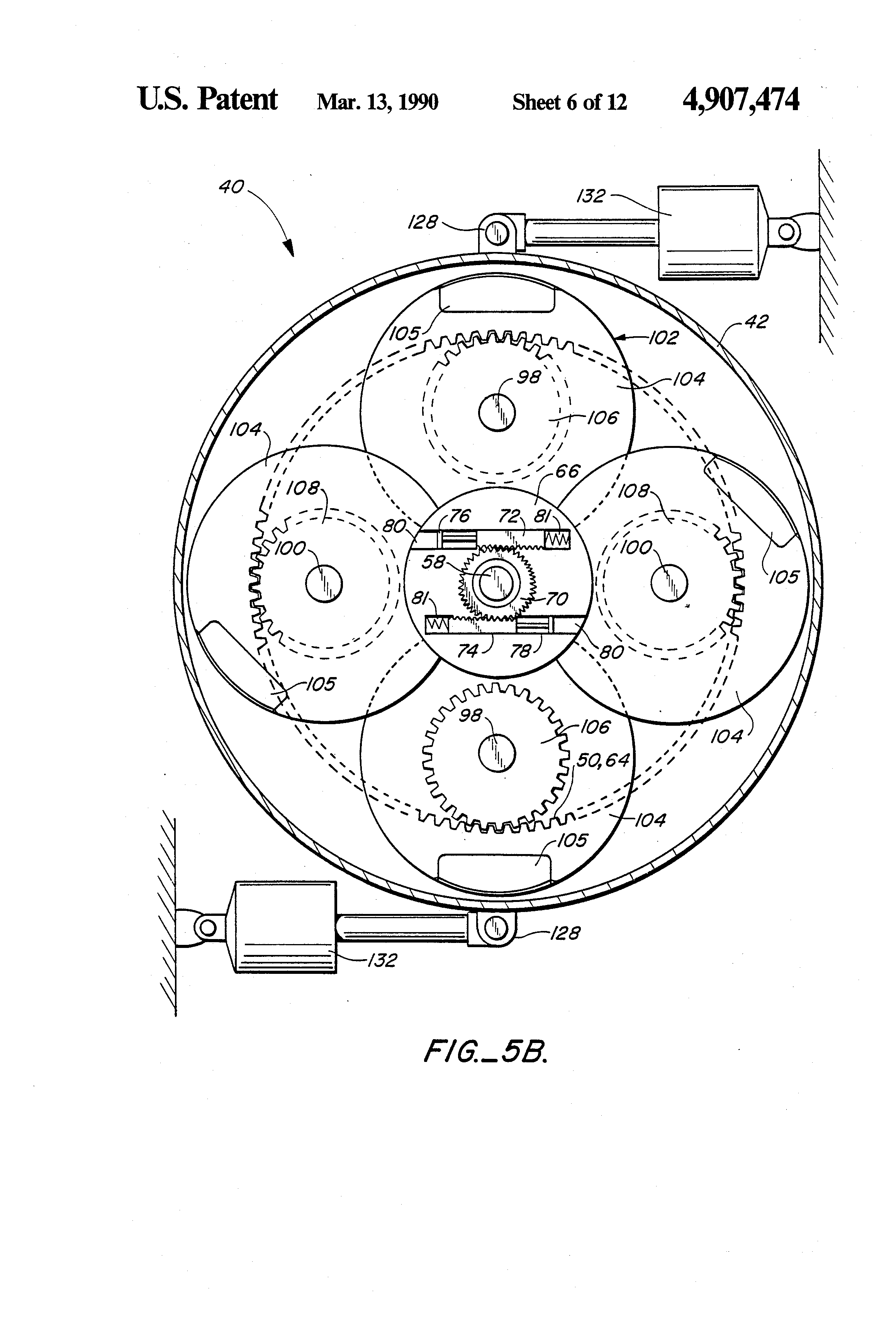 patent us4907474 - mechanical torque converter