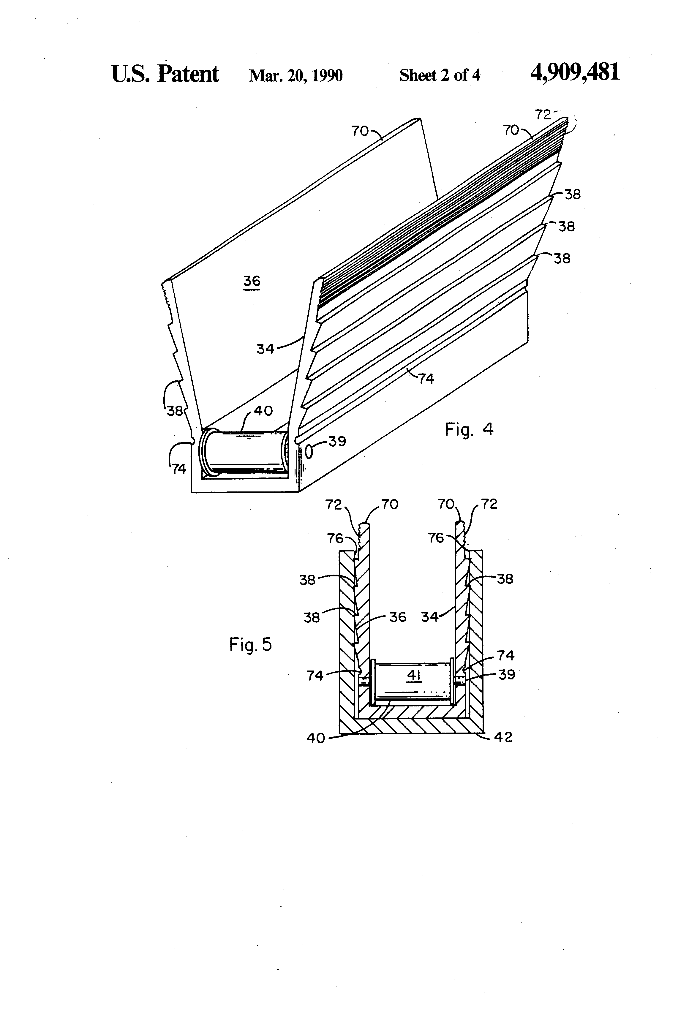 patent us4909481 - wire pulling guide