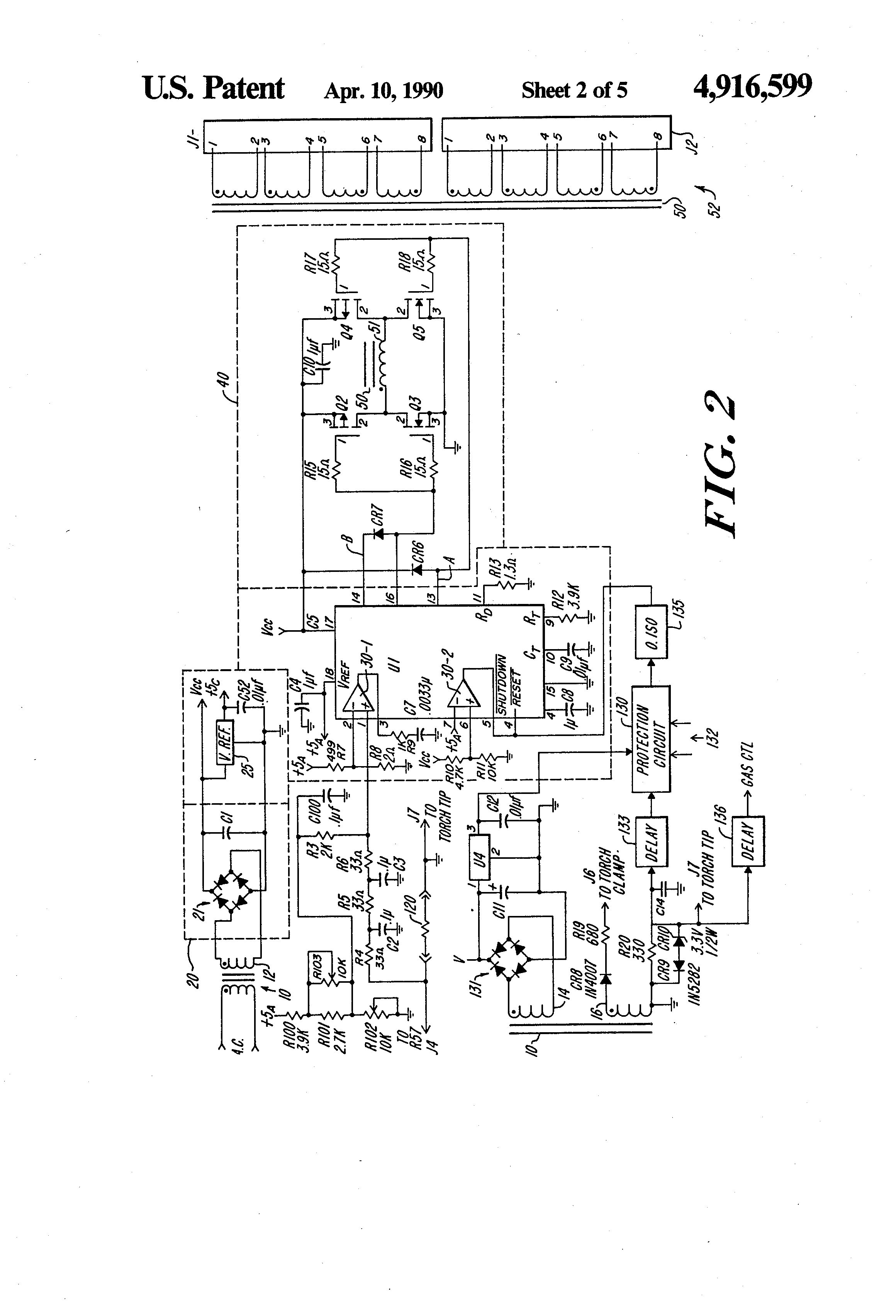 patent us4916599 - switching power supply