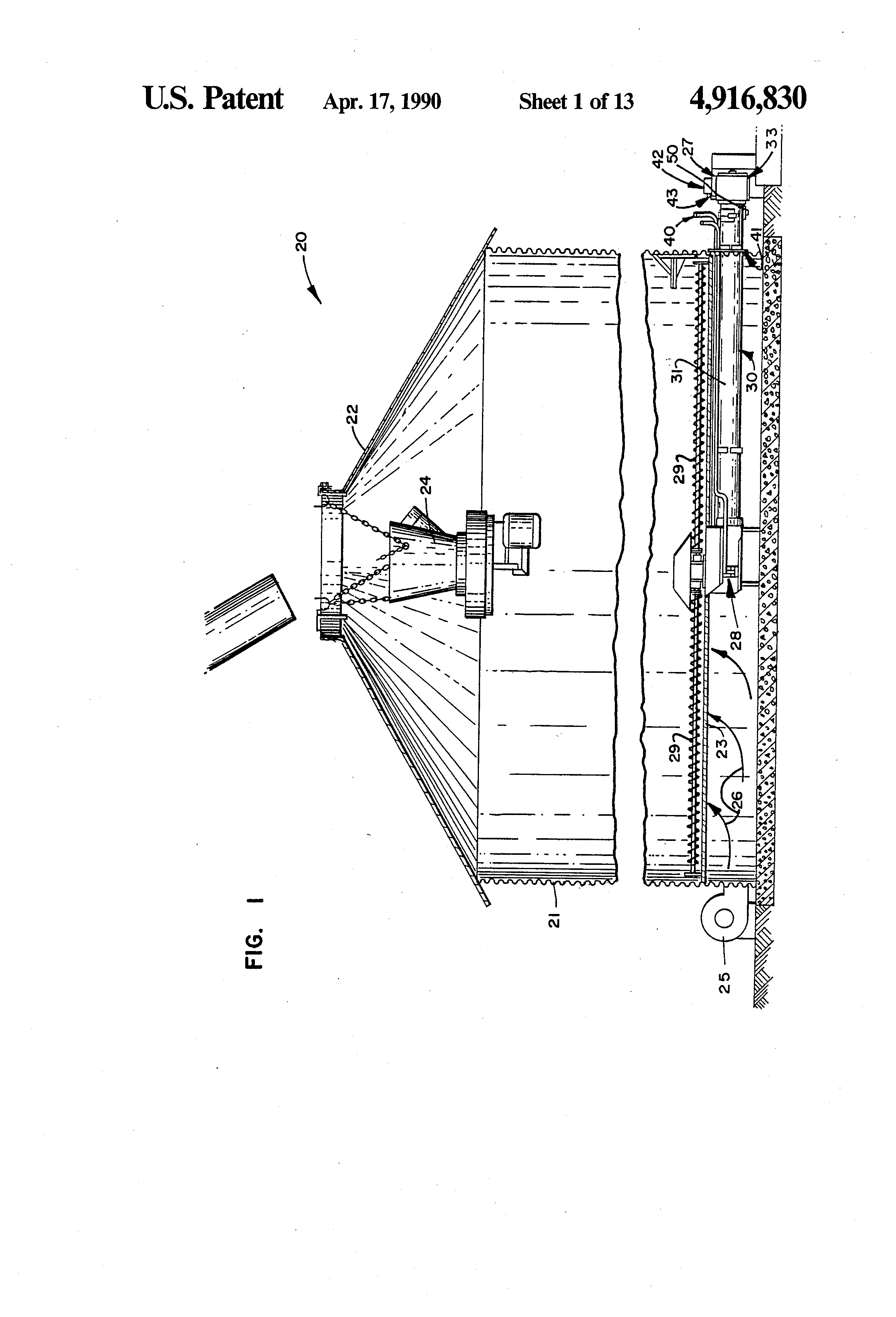 patent us4916830 grain dryer control system and method using patent drawing