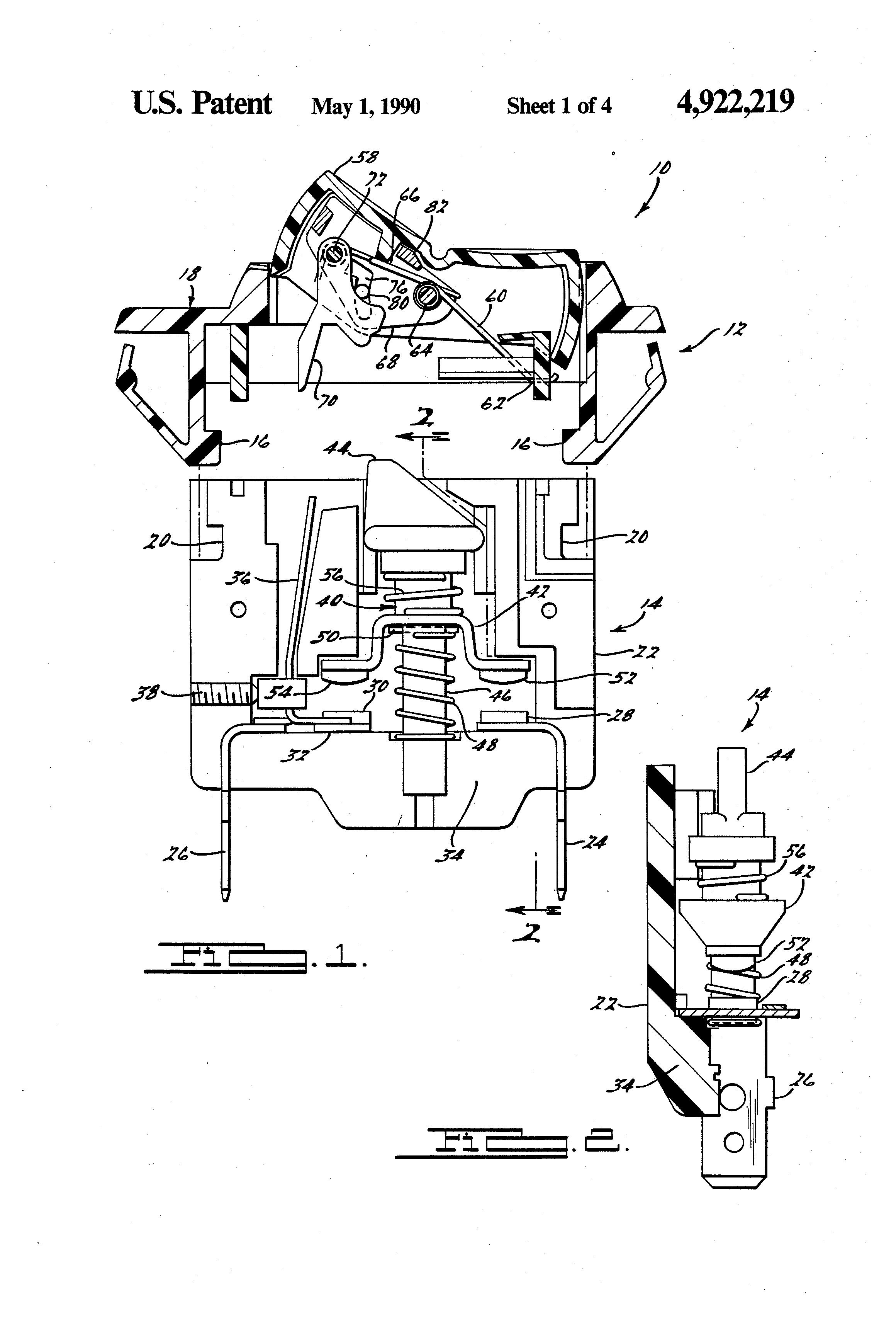 patent us4922219 - circuit breaker