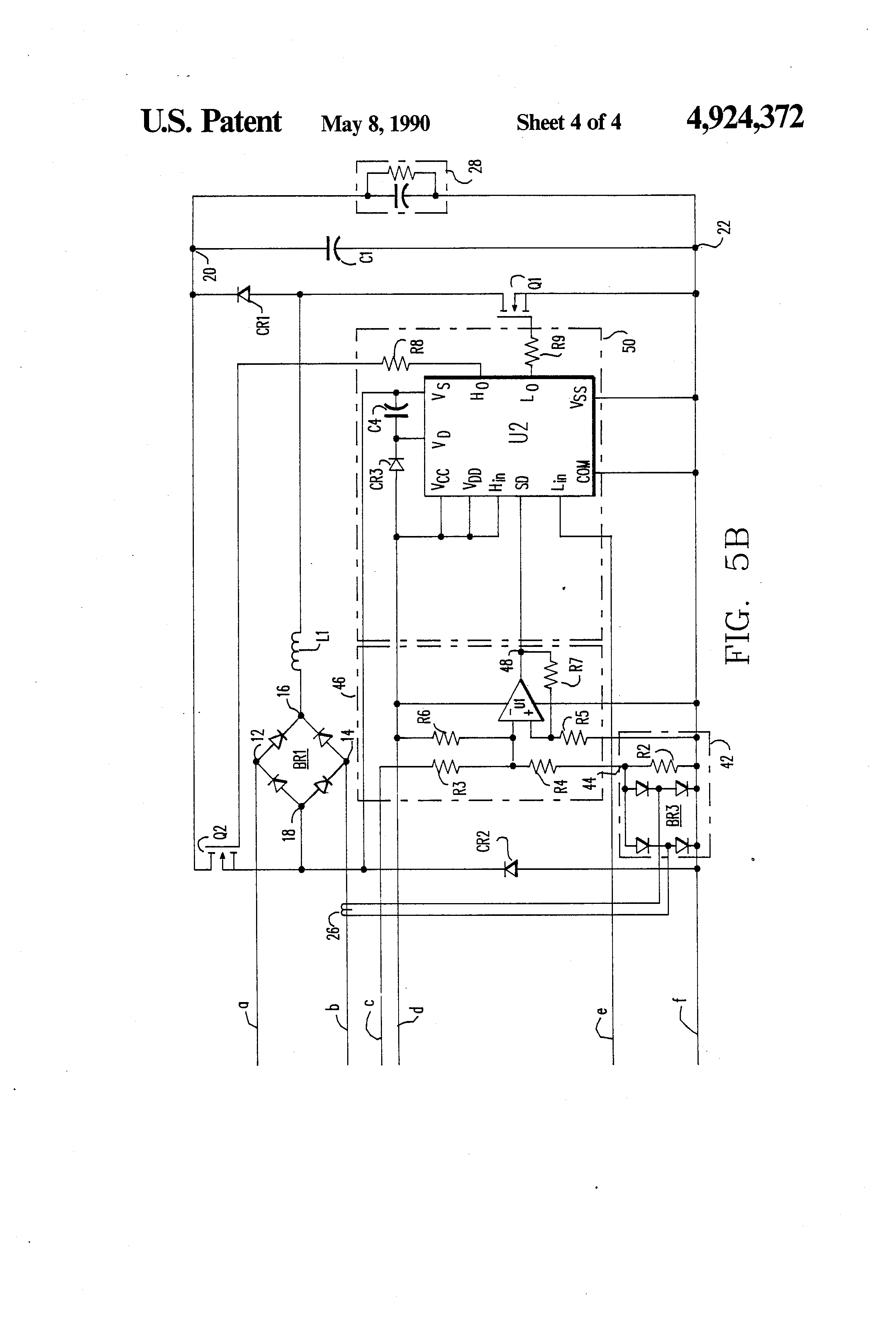 patent us4924372 - single phase rectifier circuit