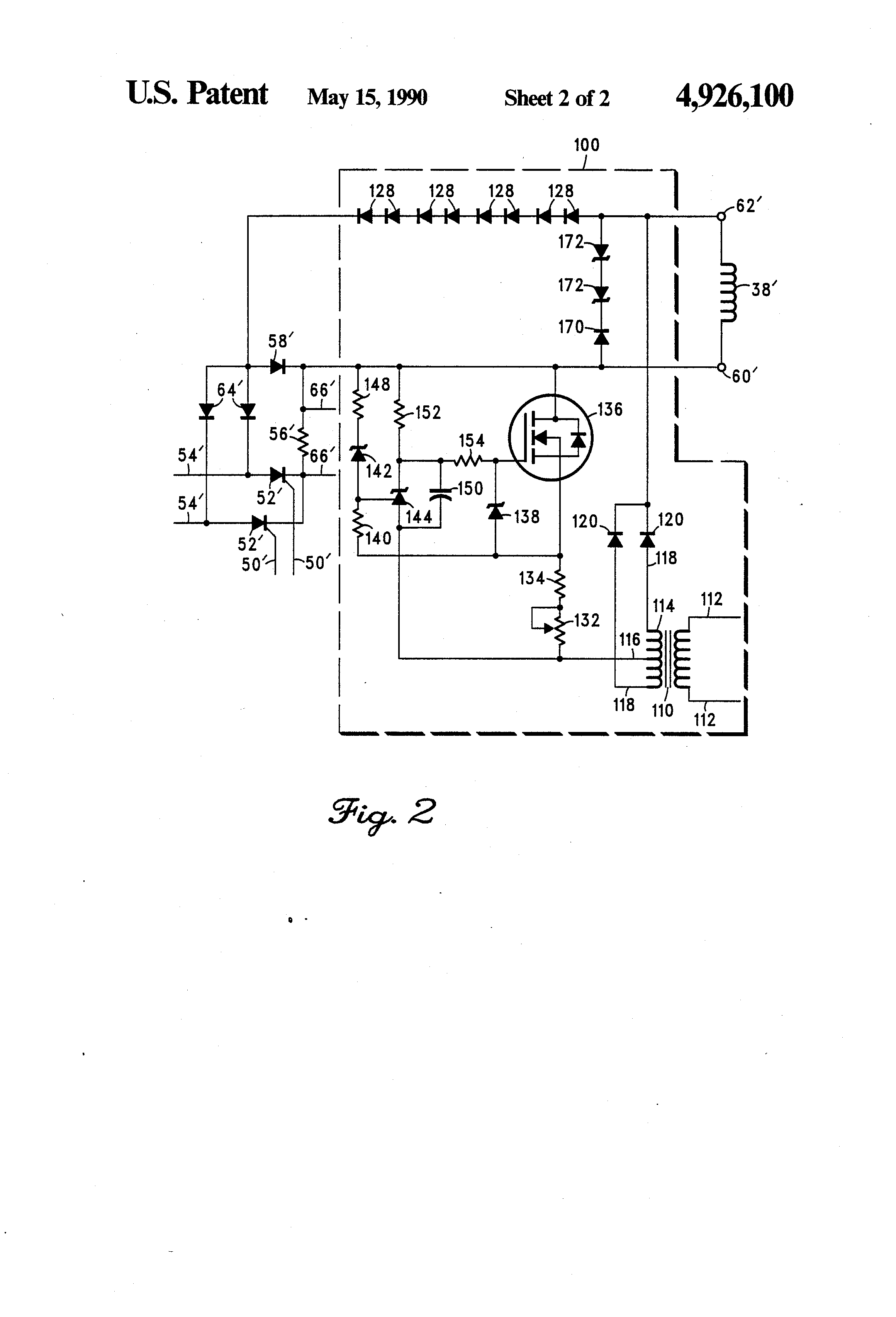 Patent us4926100 zero torque eddy current motor system for Eddy current motor speed control