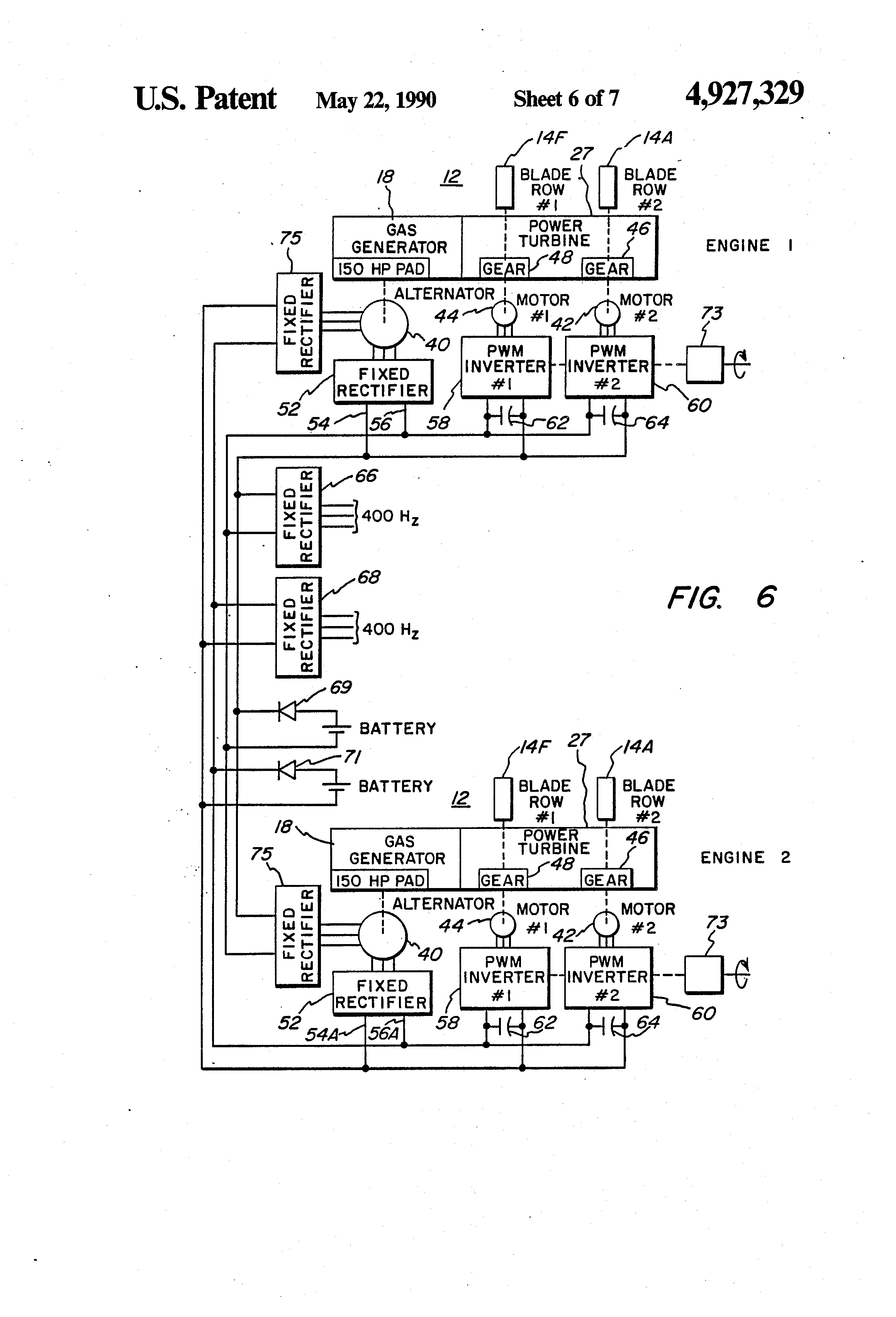 Patent US Aircraft engine unducted fan blade pitch