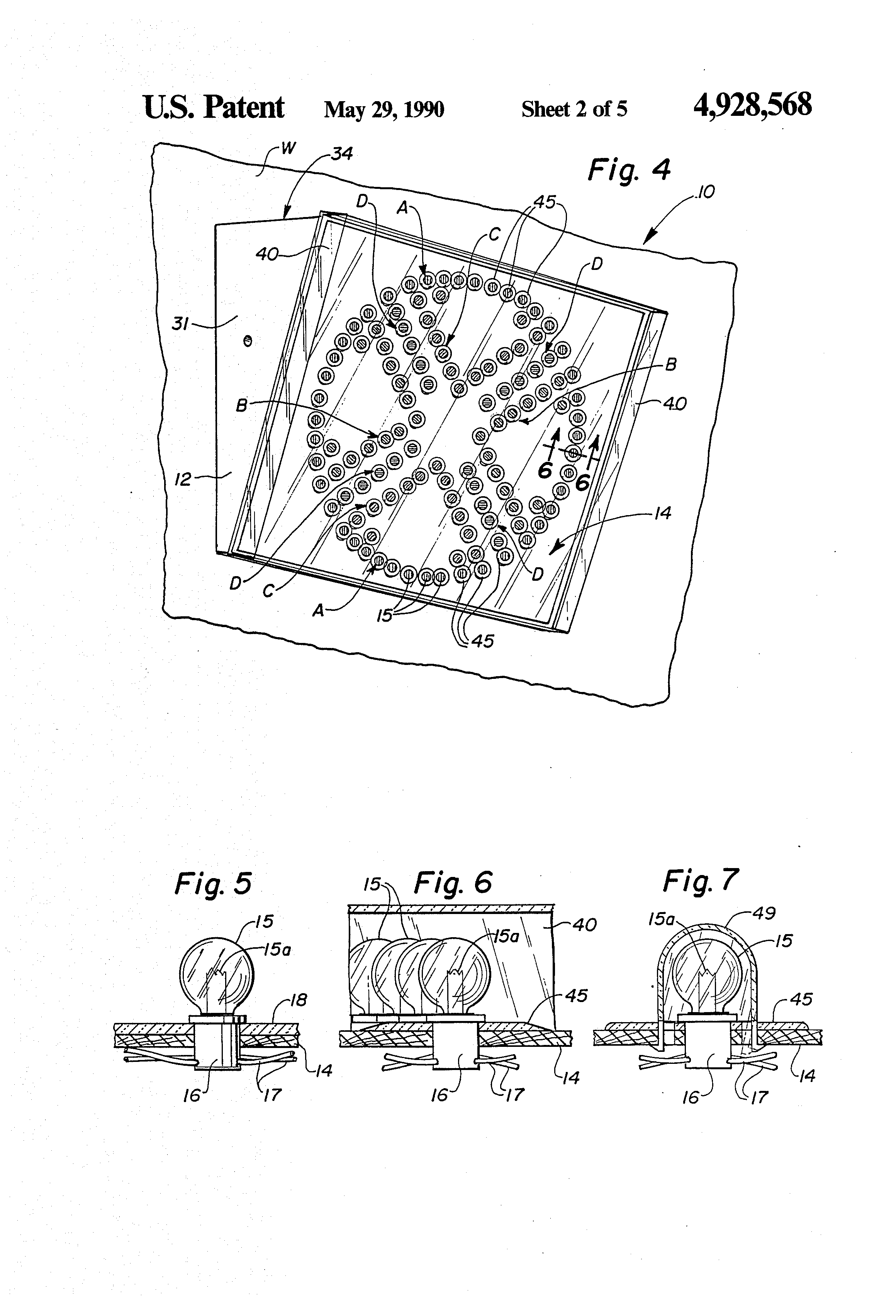 patent us4928568 - color organ display device