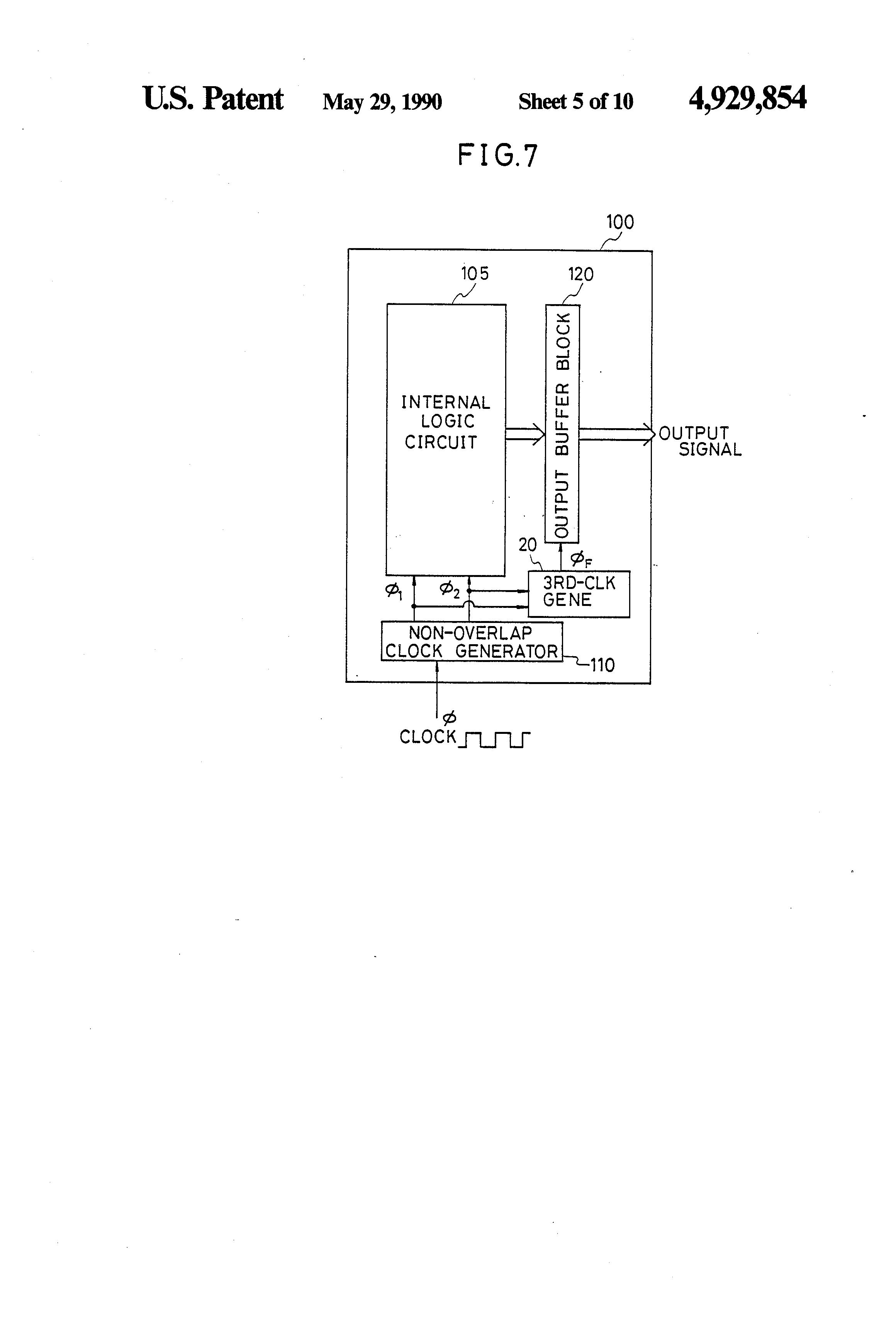 Patent Us4929854 Clock Circuit Having A Clocked Output Buffer Internal Wiring Diagram 110v Generator Drawing