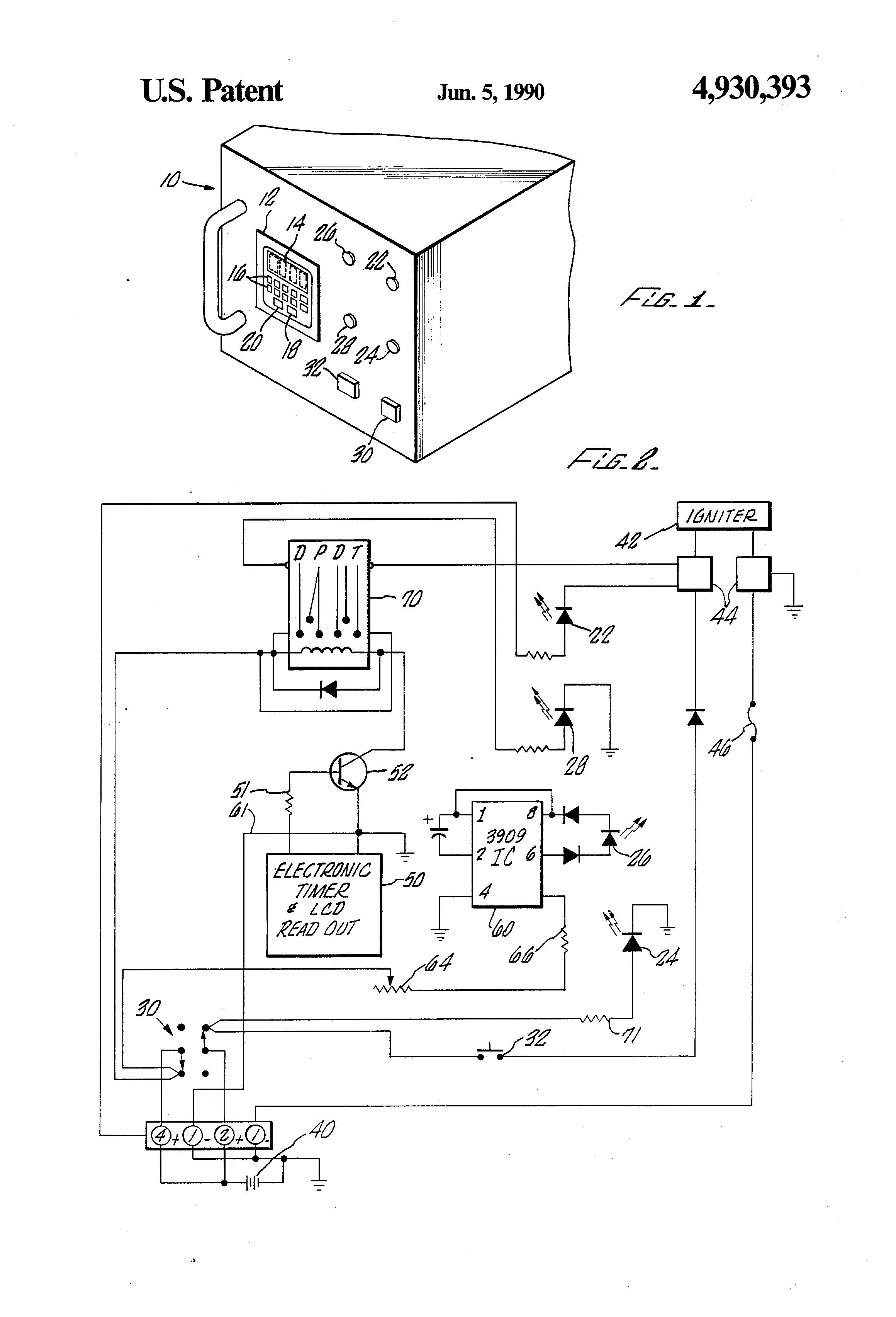 patent us4930393 - model rocket launch system