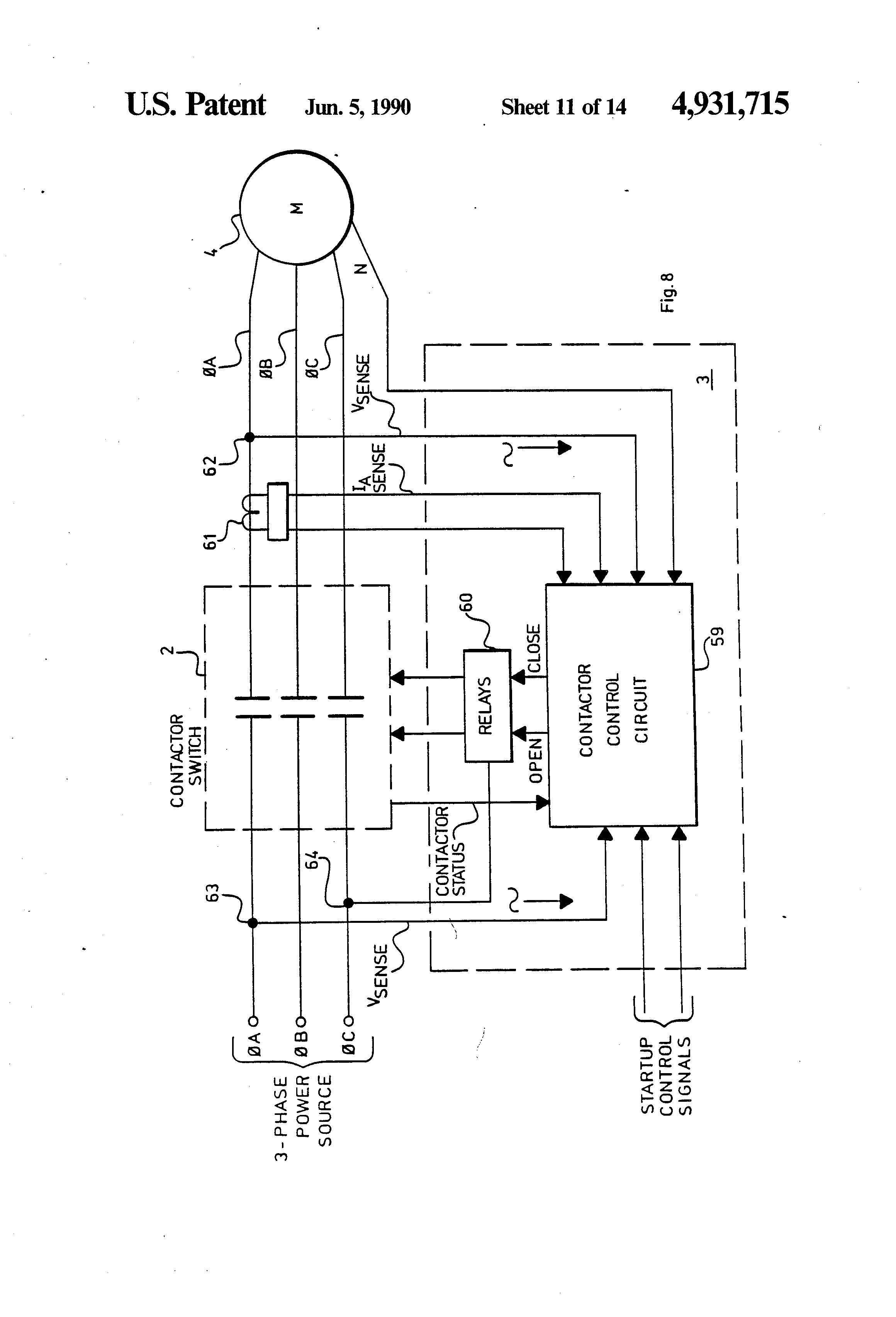 Patent US Synchronous Motor Torque Control Device - Neutral displacement relay working principle