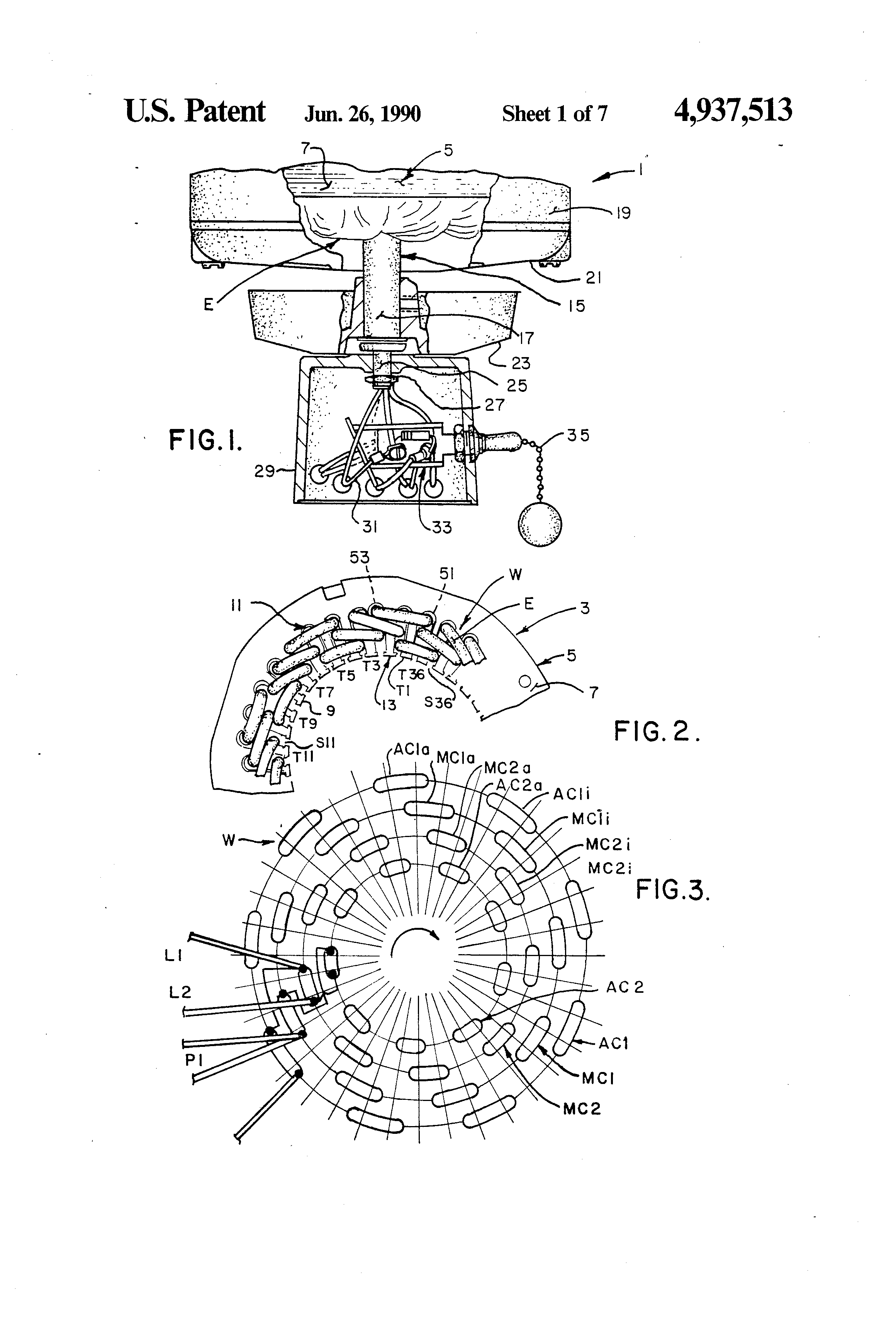 patent us tapped auxiliary winding for multi speed patent drawing