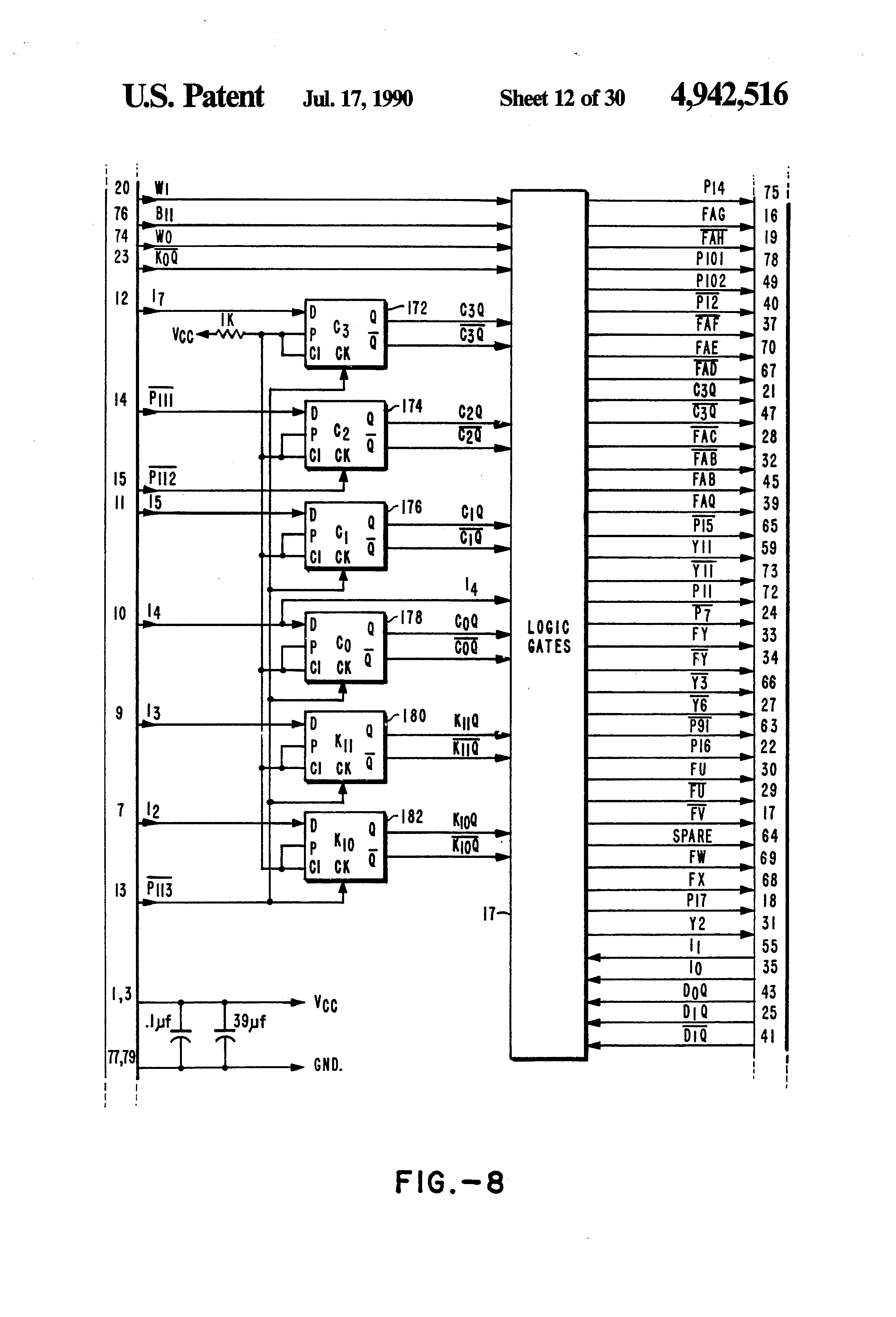 patent us4942516 - single chip integrated circuit computer architecture