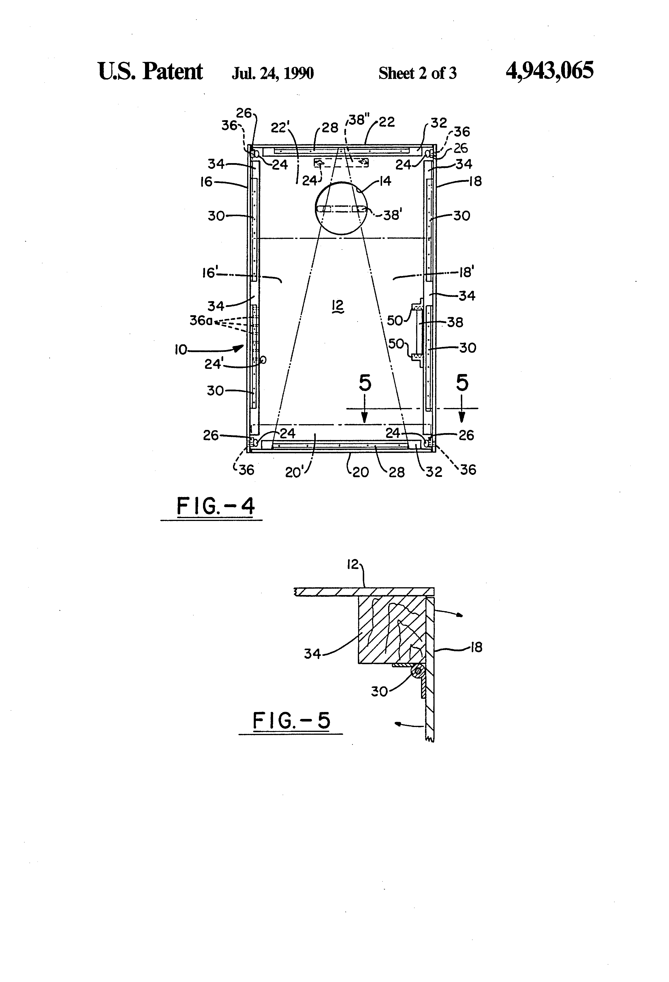 Patent Us4943065 Bean Bag Toss Game Targets Google Patents