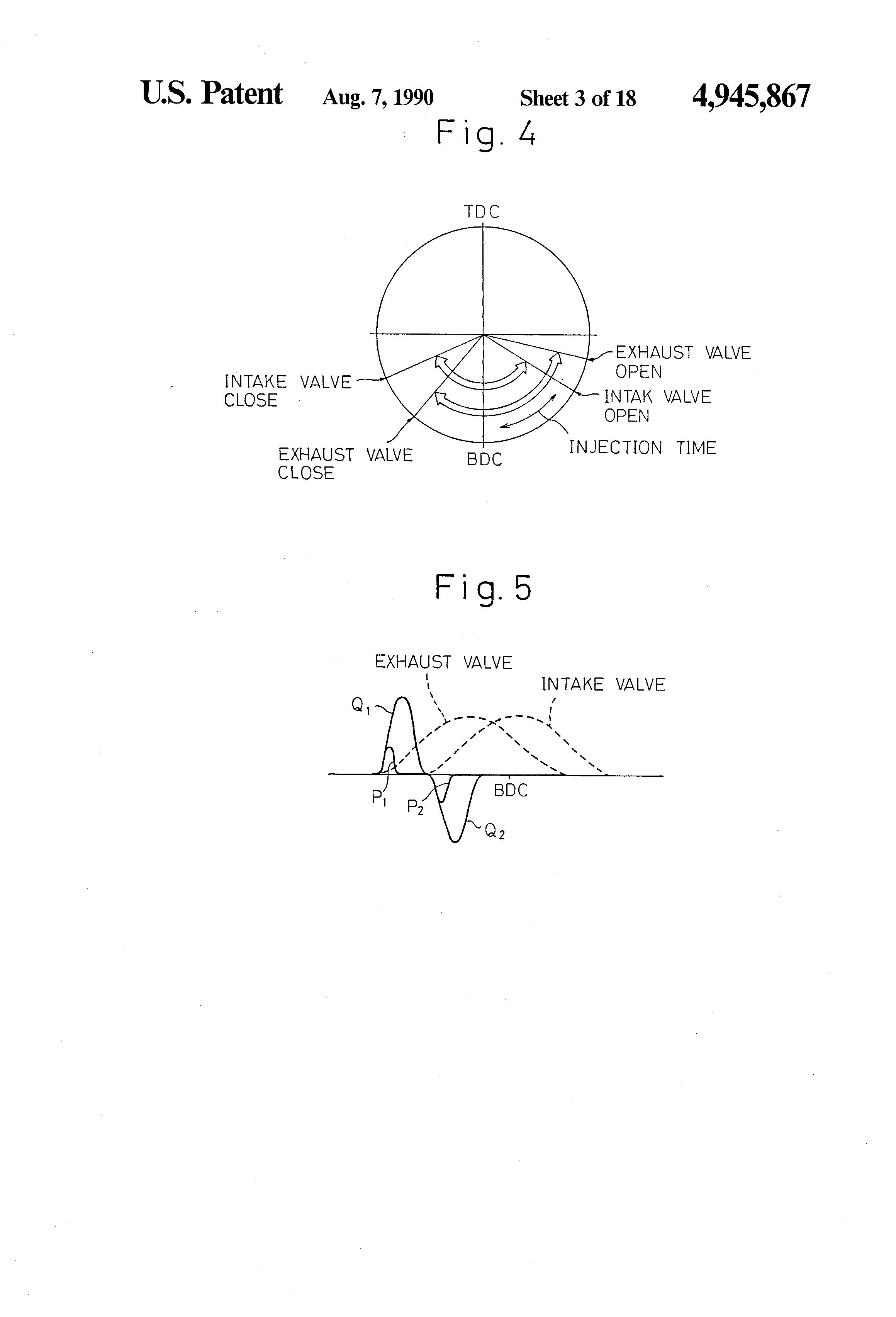 Patent Us4945867 Two Stroke Engine Google Patents 2 Diagram Intake Drawing