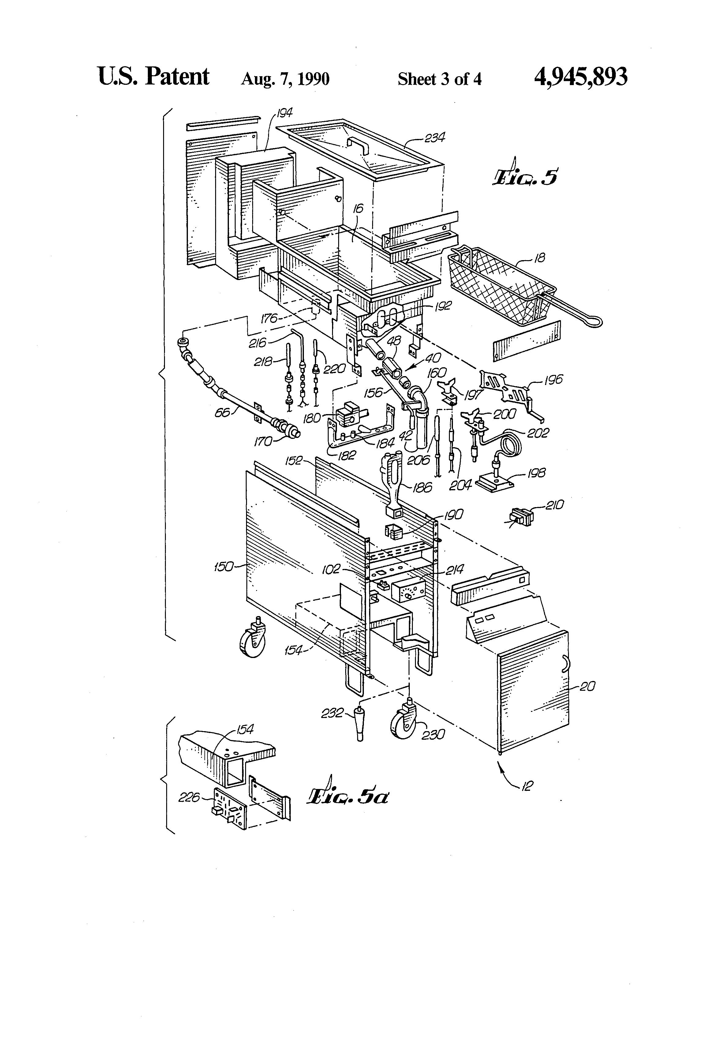 patent us4945893 - fryer filtration system