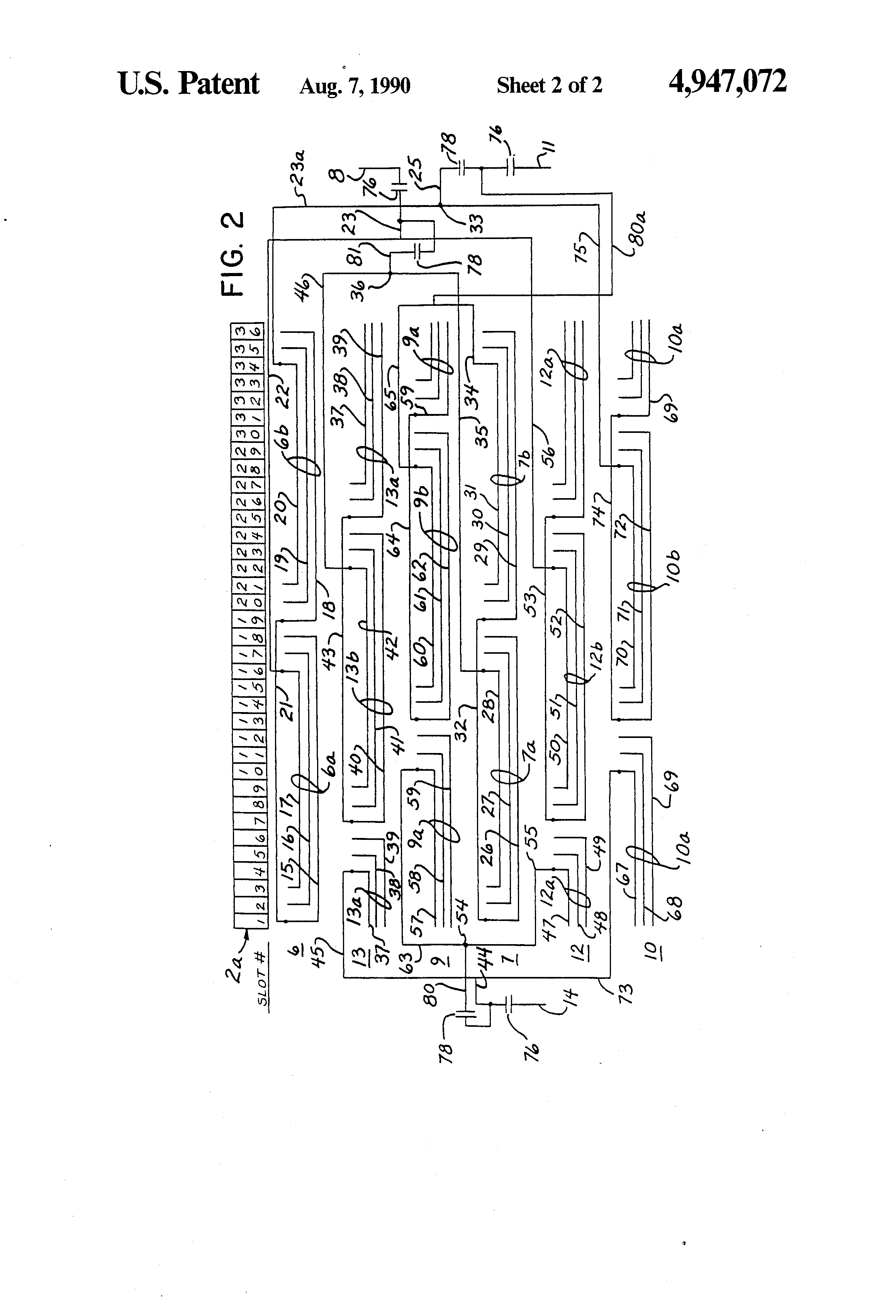 US4947072 2 patent us4947072 stator winding for two pole dynamoelectric  at n-0.co