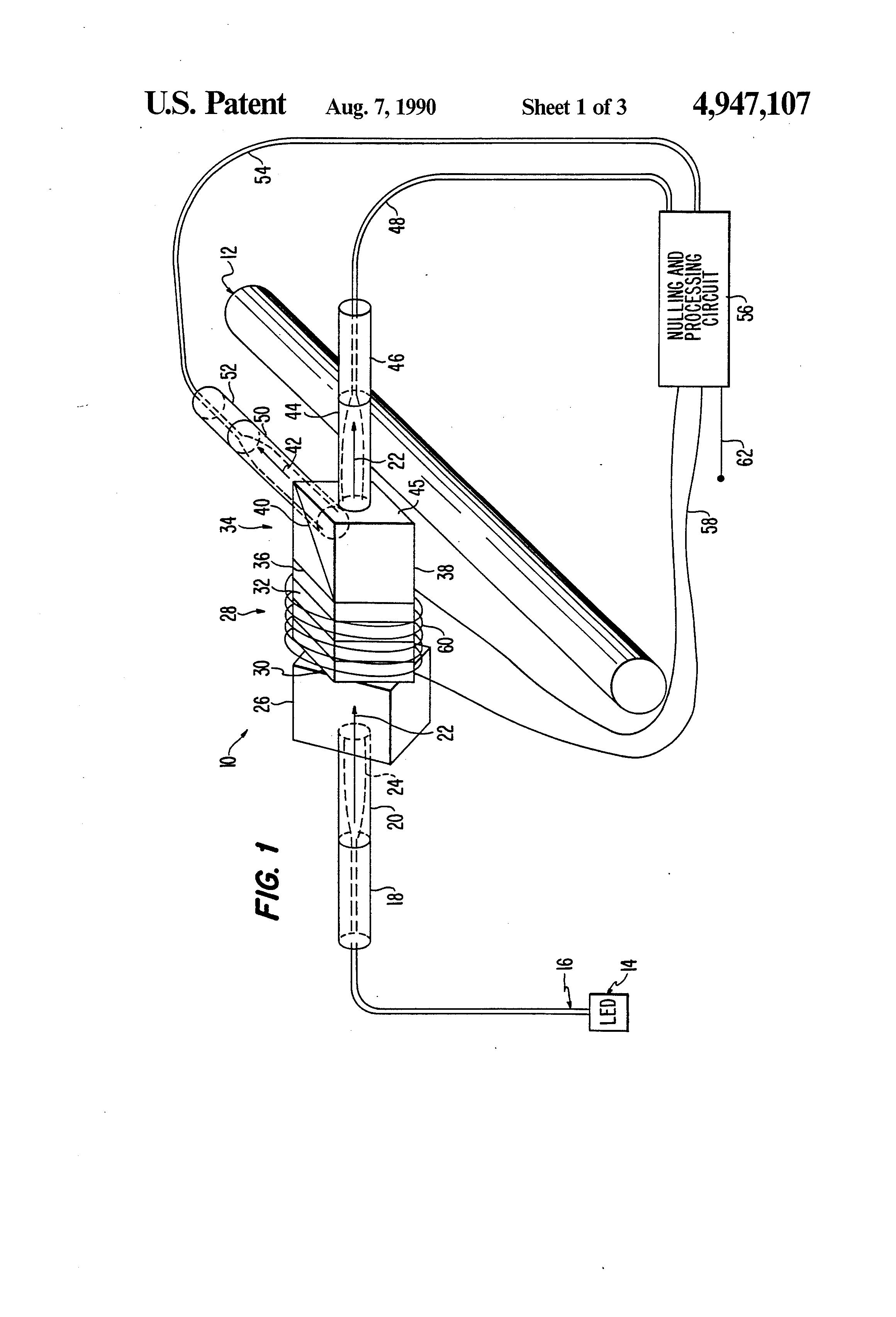 patent us4947107 - magneto-optic current sensor