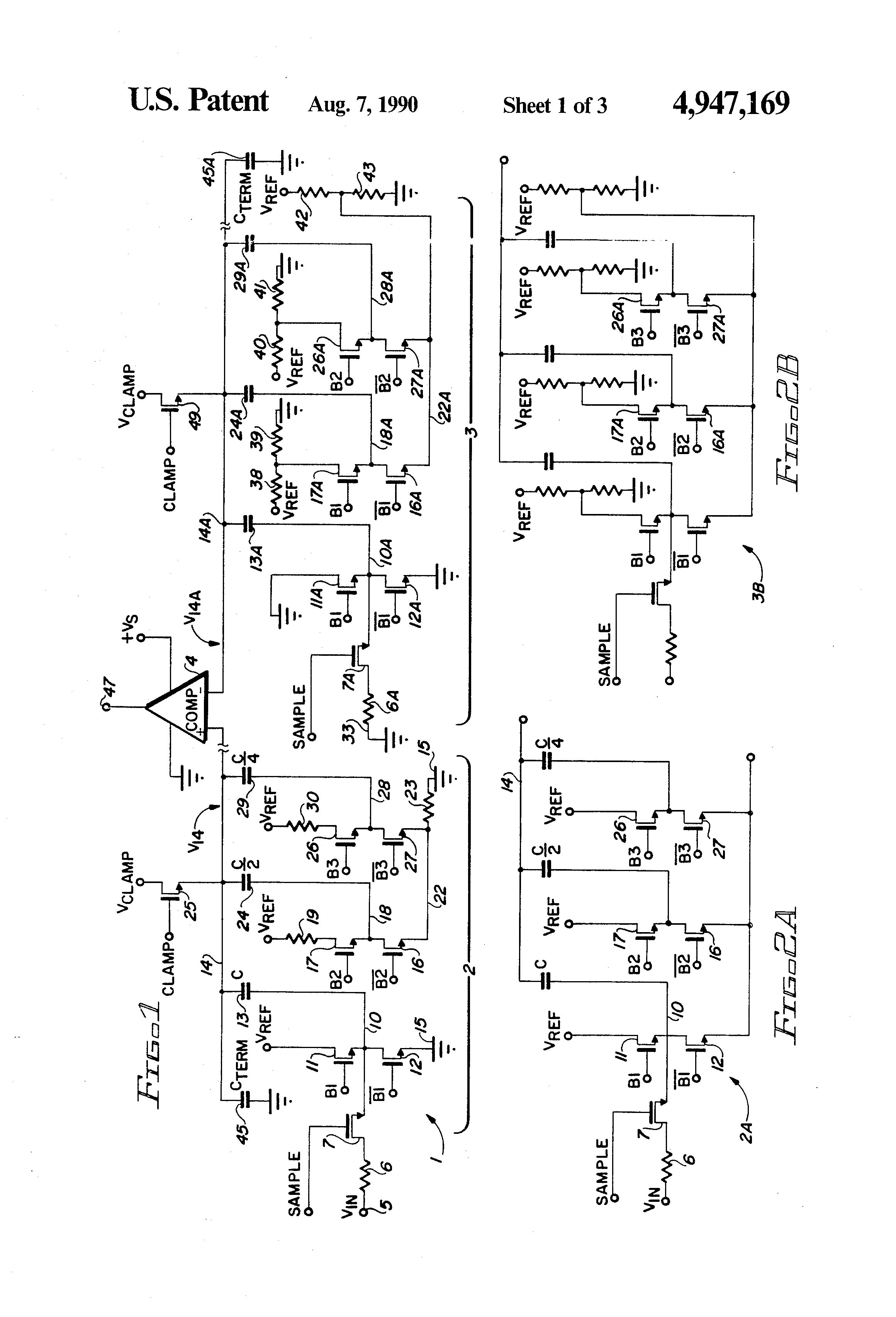 Patent Us4947169 Dummy Trim Dac For Capacitor Digital To Analog This Digitaltoanalog Converter Integrated Circuit Is Designed Drawing