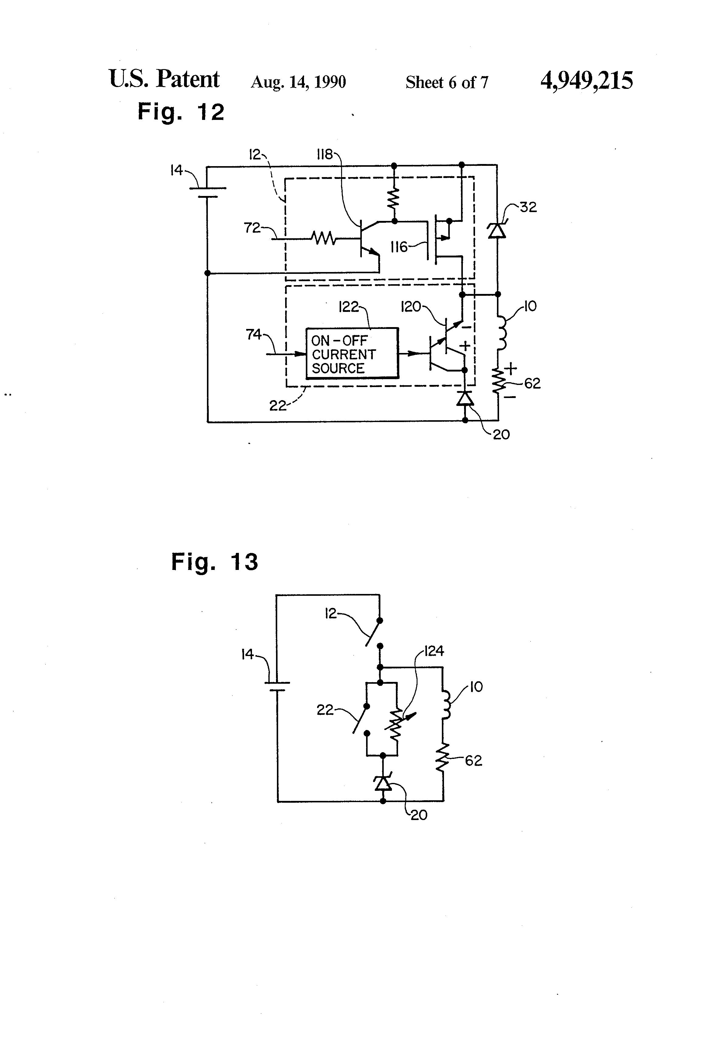Patent Us4949215 Driver For High Speed Solenoid Actuator Google Kubota Fuel Shut Off Wiring Diagram Drawing