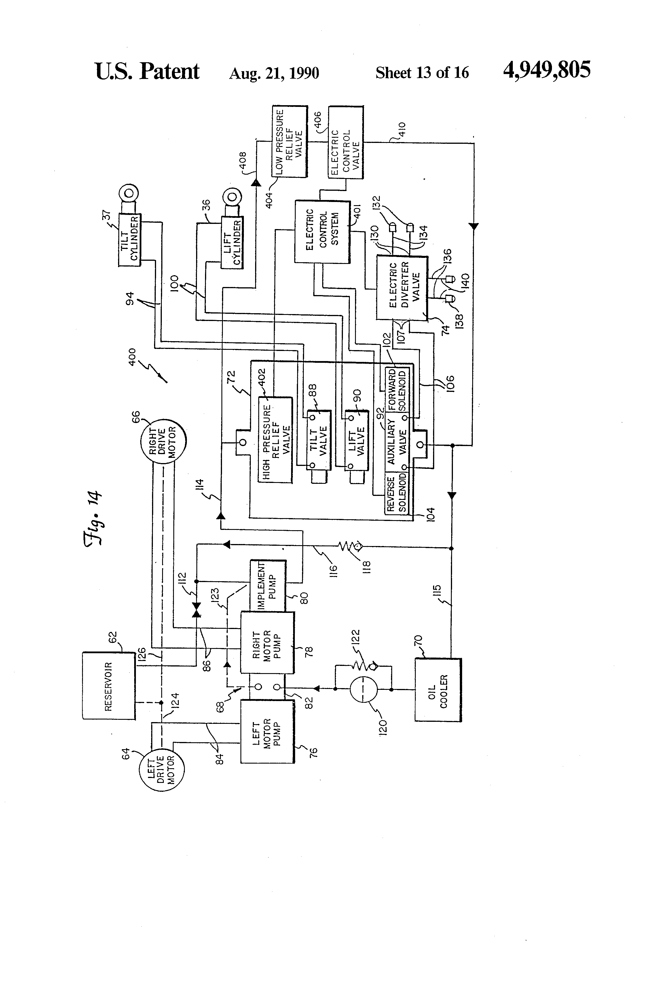 patent us electrically controlled auxiliary hydraulic patent drawing