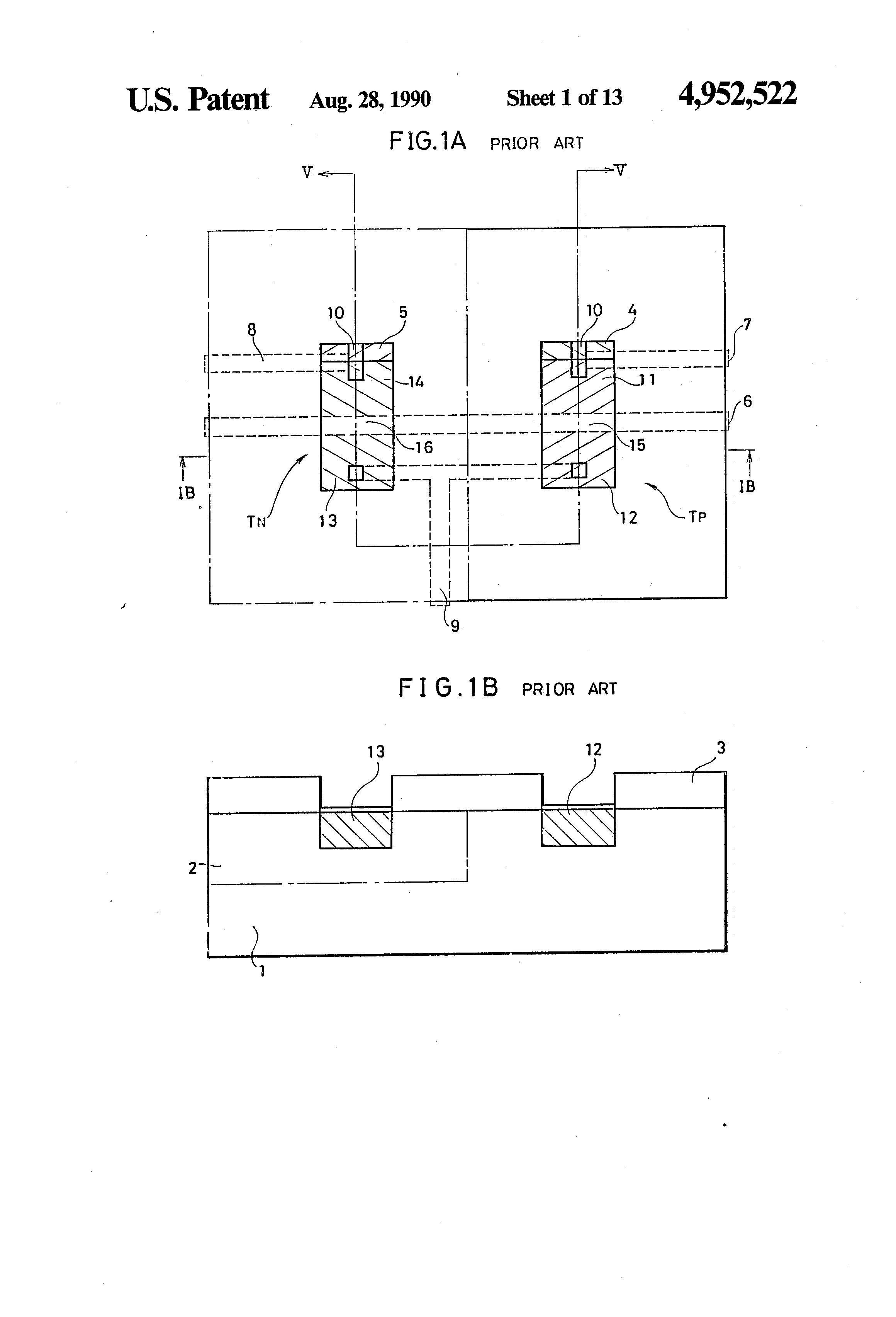 Patent Us4952522 Method Of Fabricating Complementary Semiconductor Diffusion Impurities For Ic Fabrication Drawing