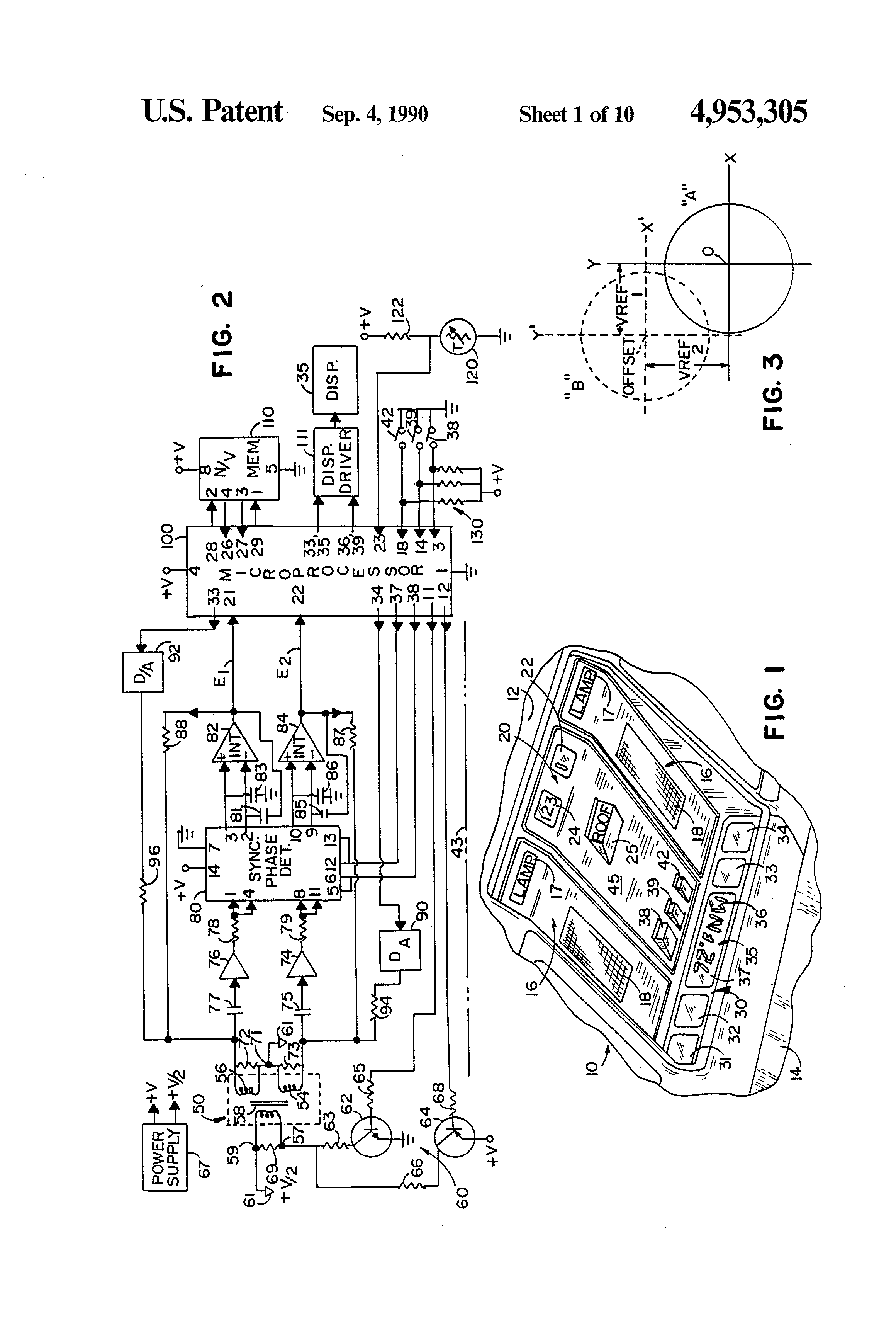 patent us4953305 - vehicle compass with automatic continuous calibration