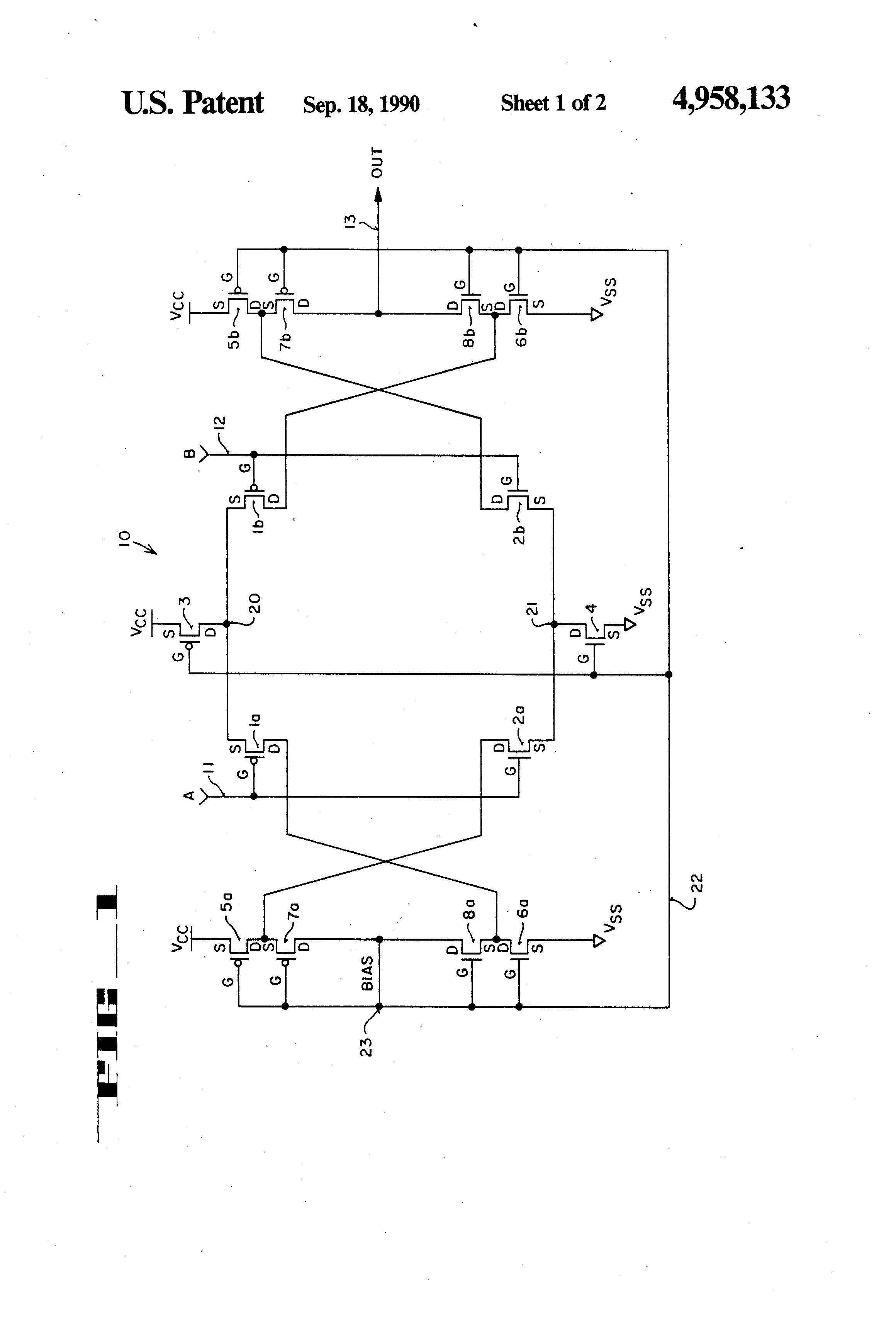 patent us4958133 cmos complementary self biased rail to rail high output current operational amplifier Differential Amplifier Working