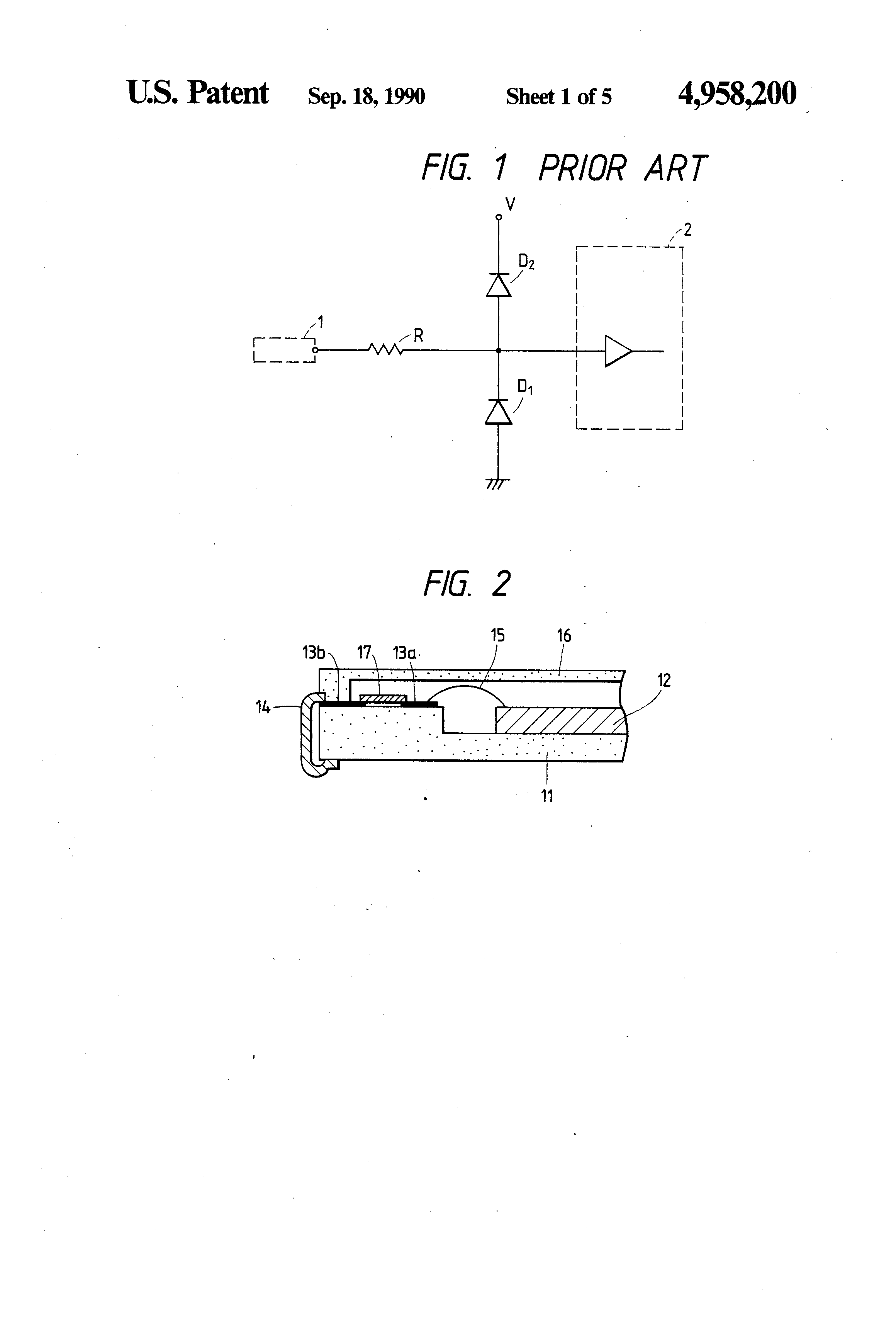 Patent Us4958200 Overcurrent Protection Circuit For Semiconductor Drawing