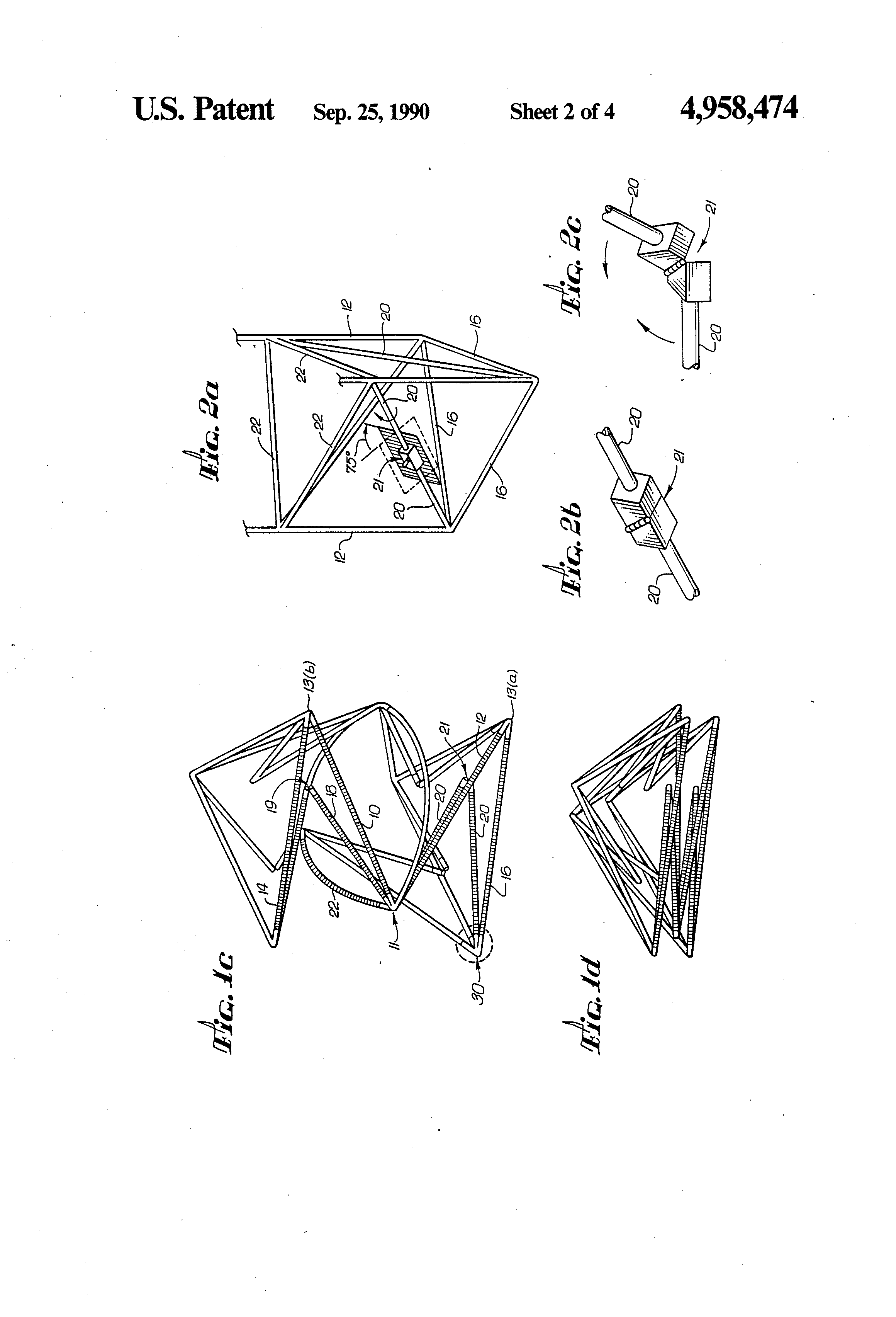 patent us4958474 - truss structure