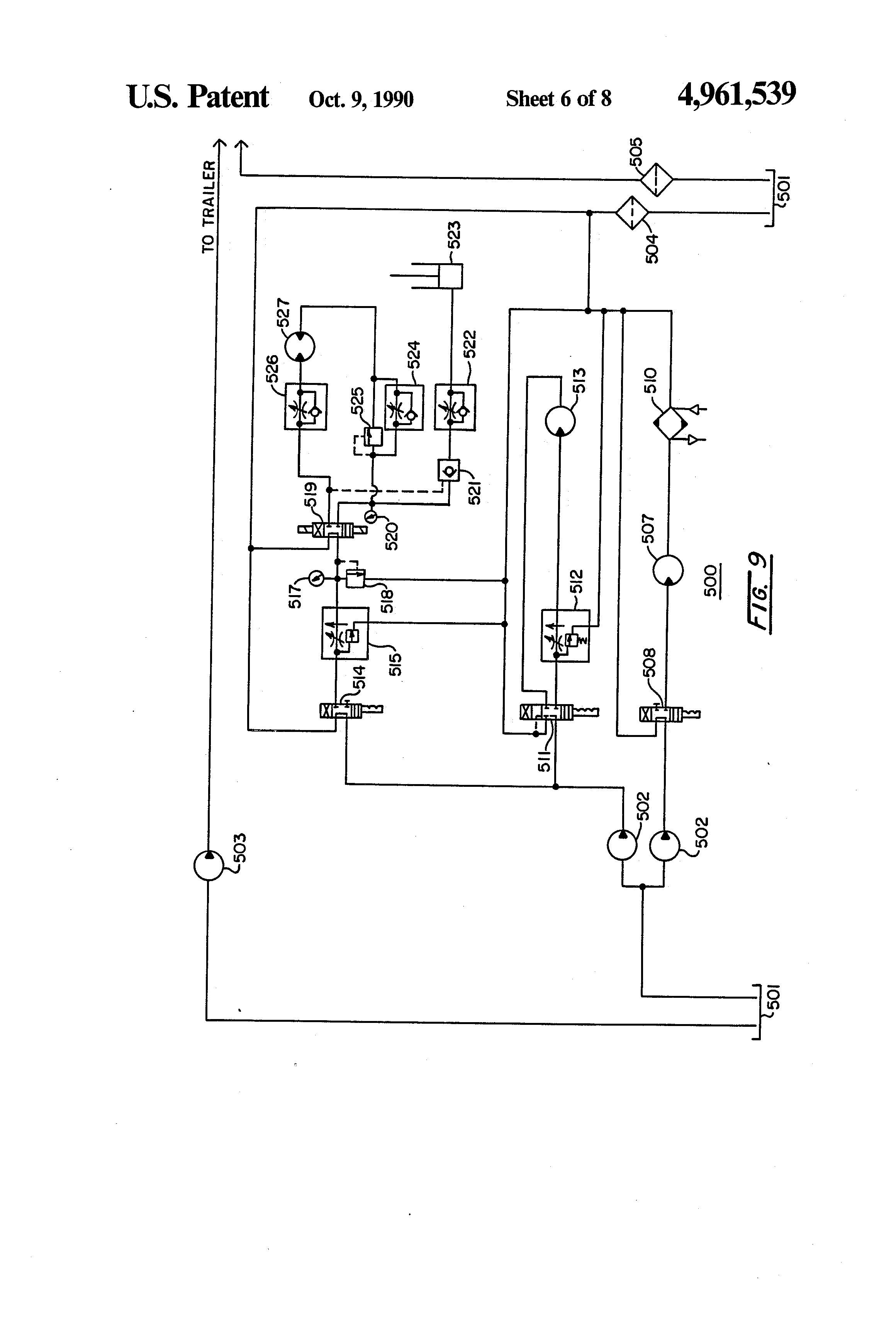 patent us4961539 - truck-mounted pallet chipper
