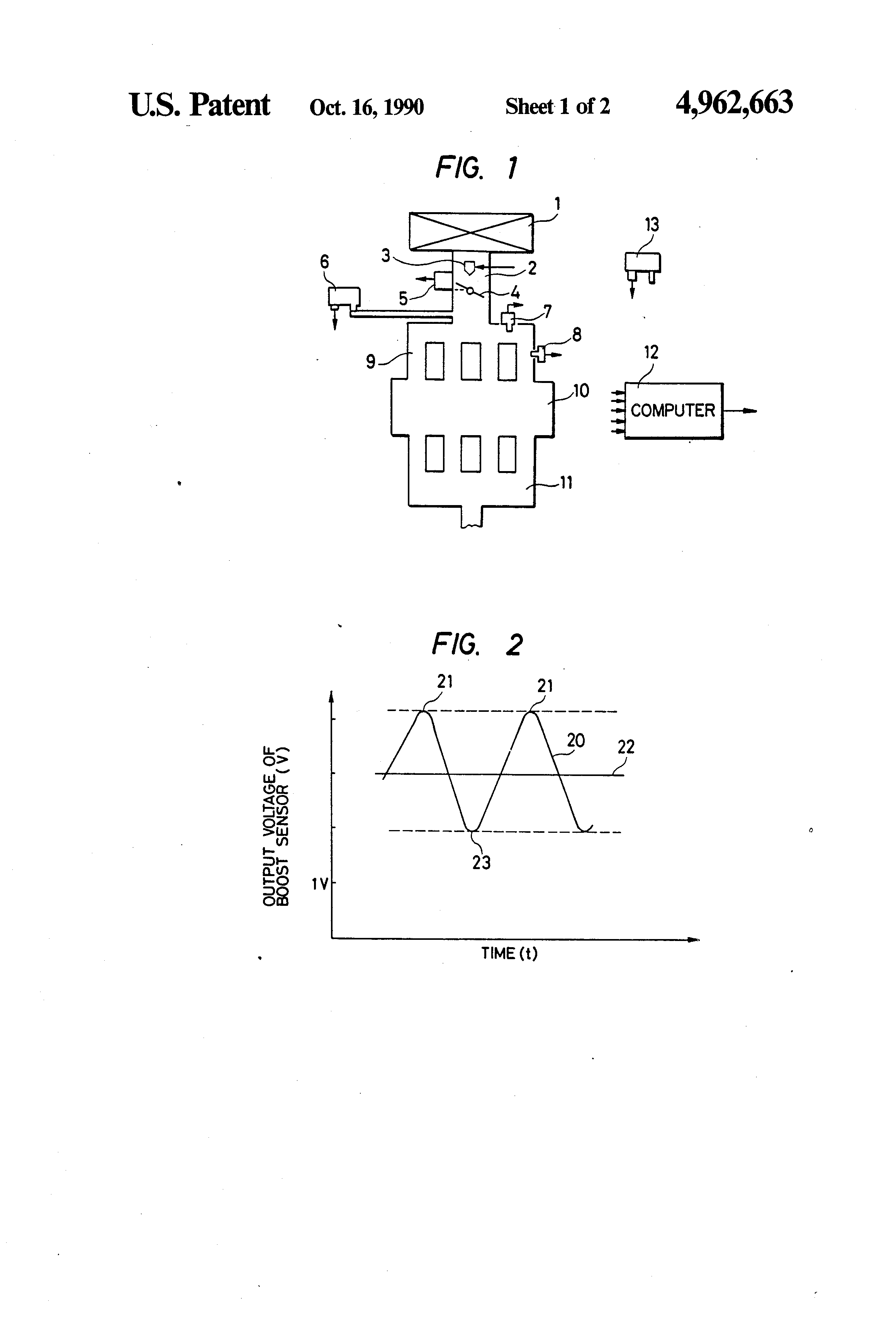 Patent Us4962663 Method Of Measuring Atmospheric Pressure For An External Combustion Engine Diagram Drawing