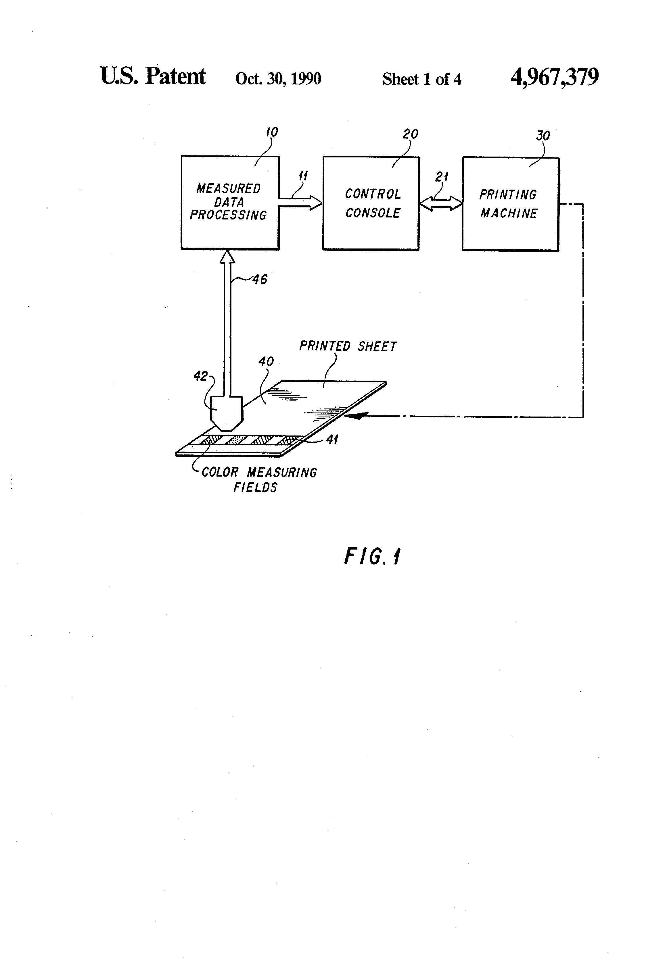 Patent Us4967379 Process For The Ink Control Or Regulation Of A Offset Press Diagram Gravure Printing Drawing