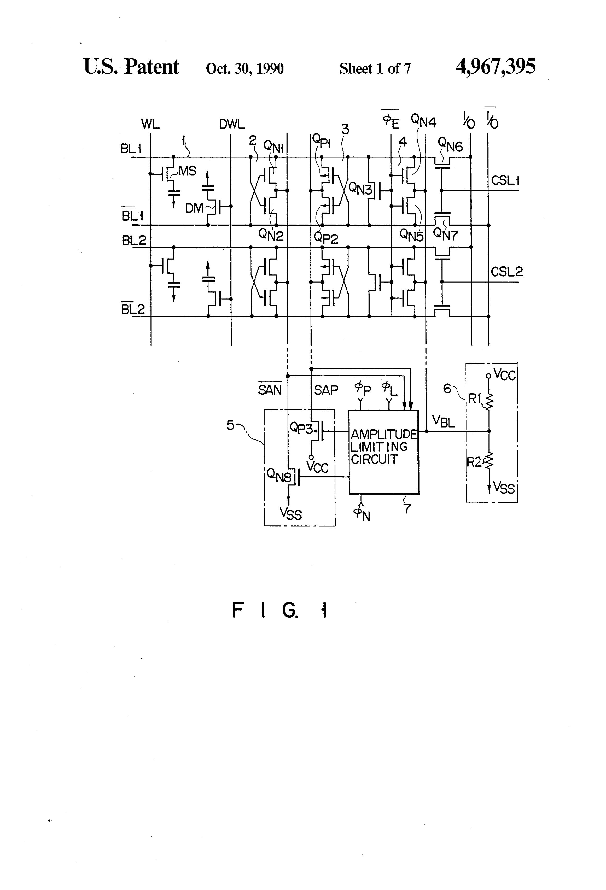 patent us4967395  2 vcc precharge and selectively operable limiting circuit