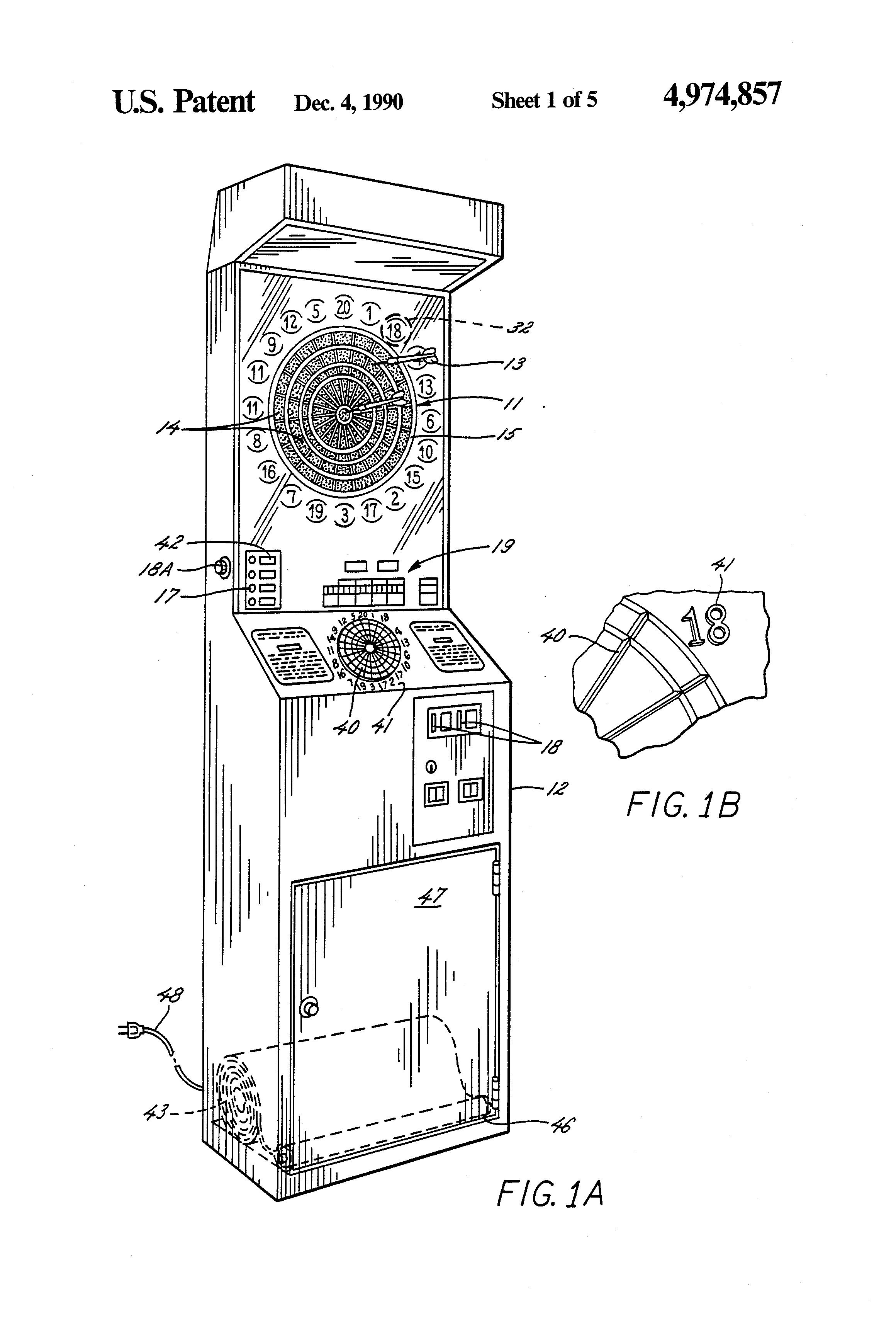 patent us4974857 - electronic dart game