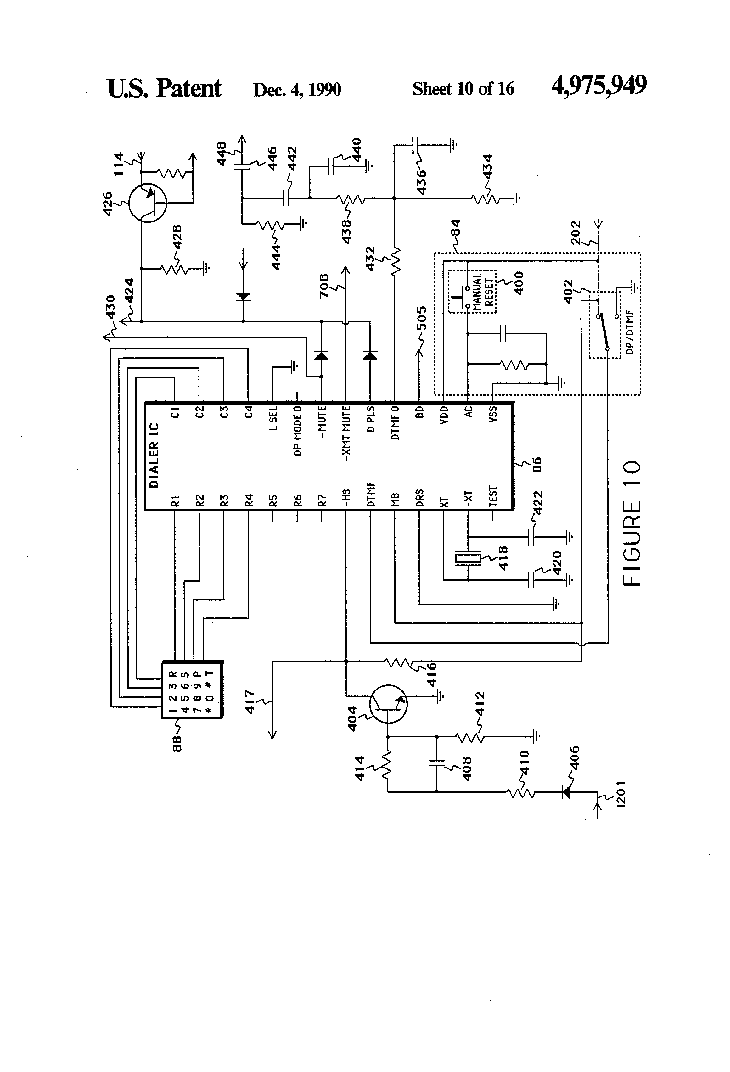 Patent Us4975949 Electronic Headset Telephone Google Patents 10mhzvfo Oscillatorcircuit Signalprocessing Circuit Diagram Drawing