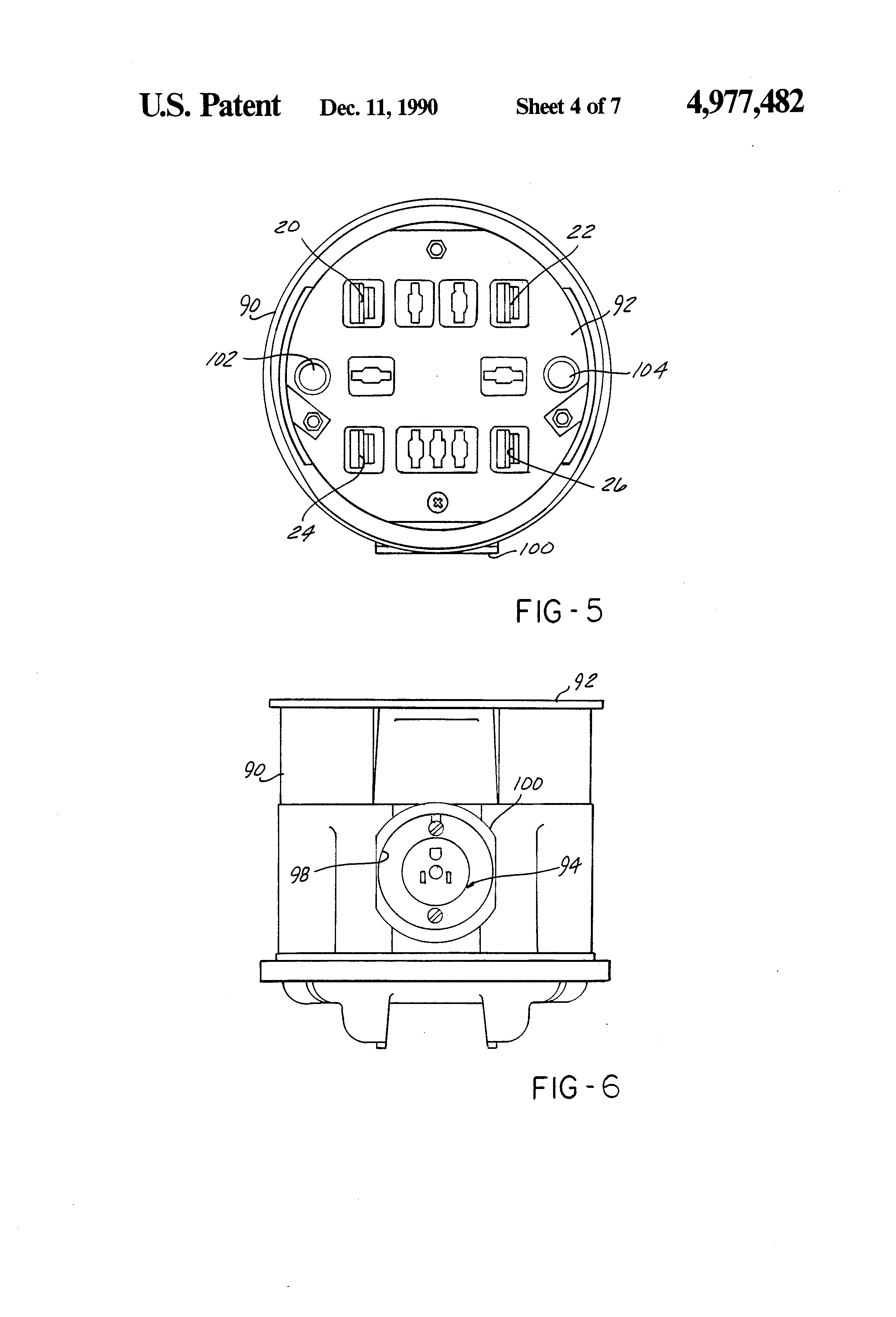 patent us4977482 - watthour meter socket adapter with interface connection